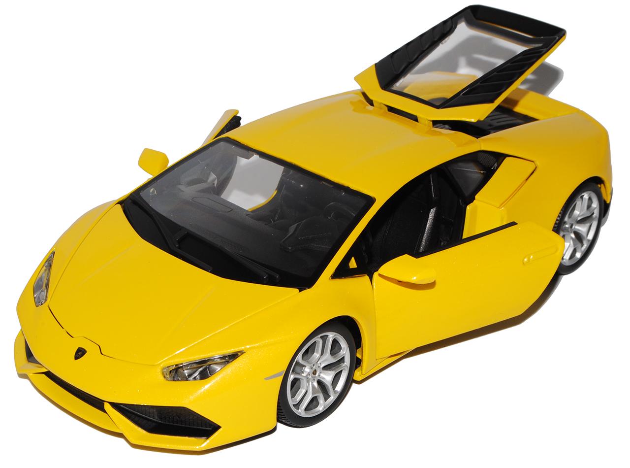 Lamborghini Huracan LP6410-4 Coupe Gelb Ab 2014 1//18 Bburago Modell Auto mit o..
