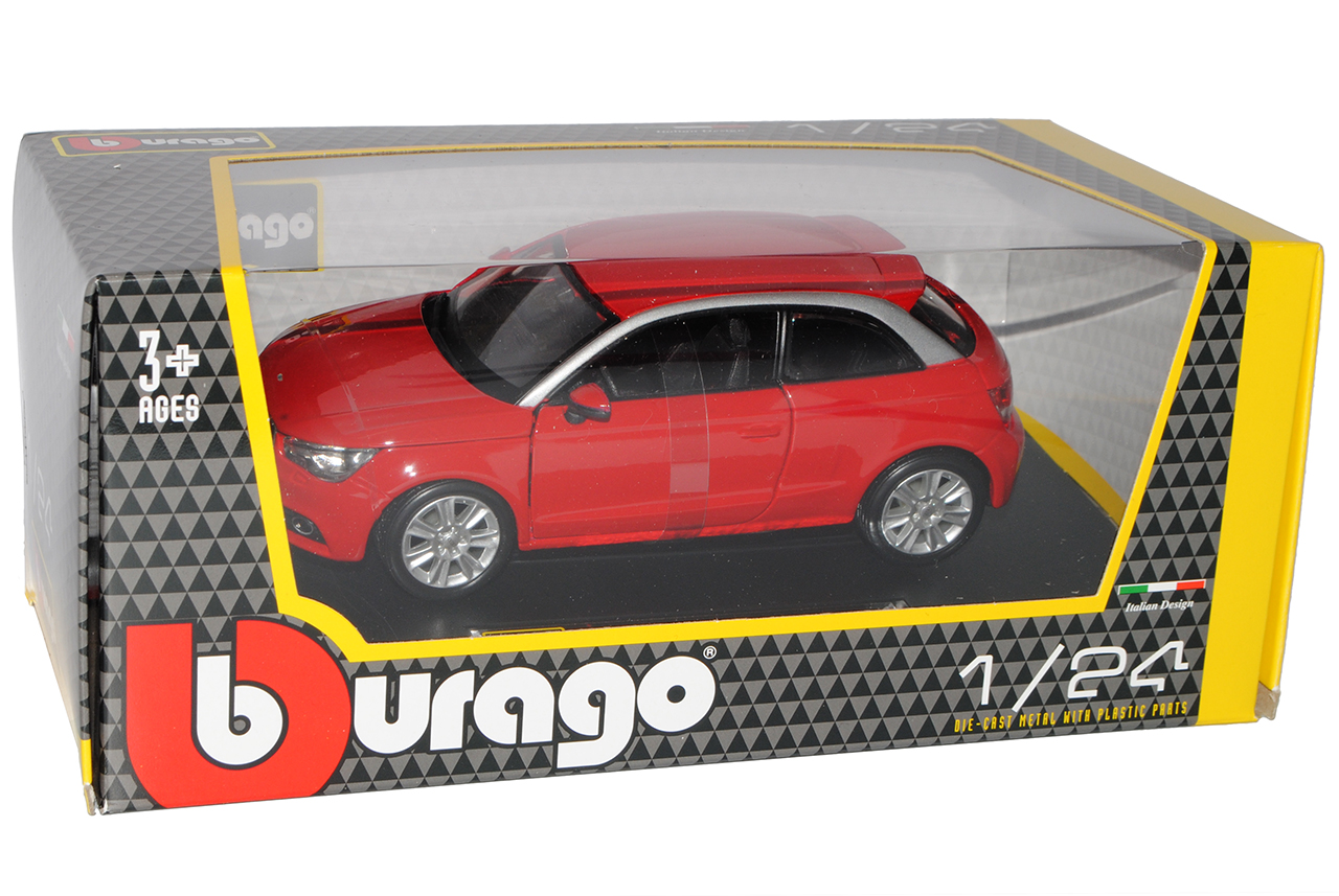 Audi A1 Rot 3 Türer Ab 2010 8X 1//24 Bburago Modell Auto mit oder ohne individi..
