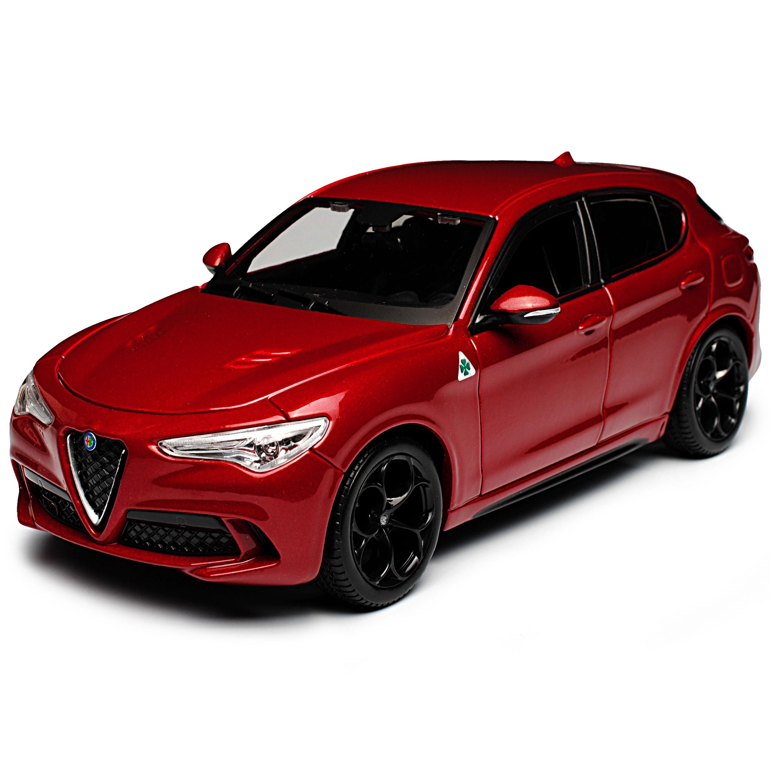 Alfa Romeo Stelvio Typ 949 SUV Rot Metallic Ab 2017 1//24 Bburago Modell Auto m..