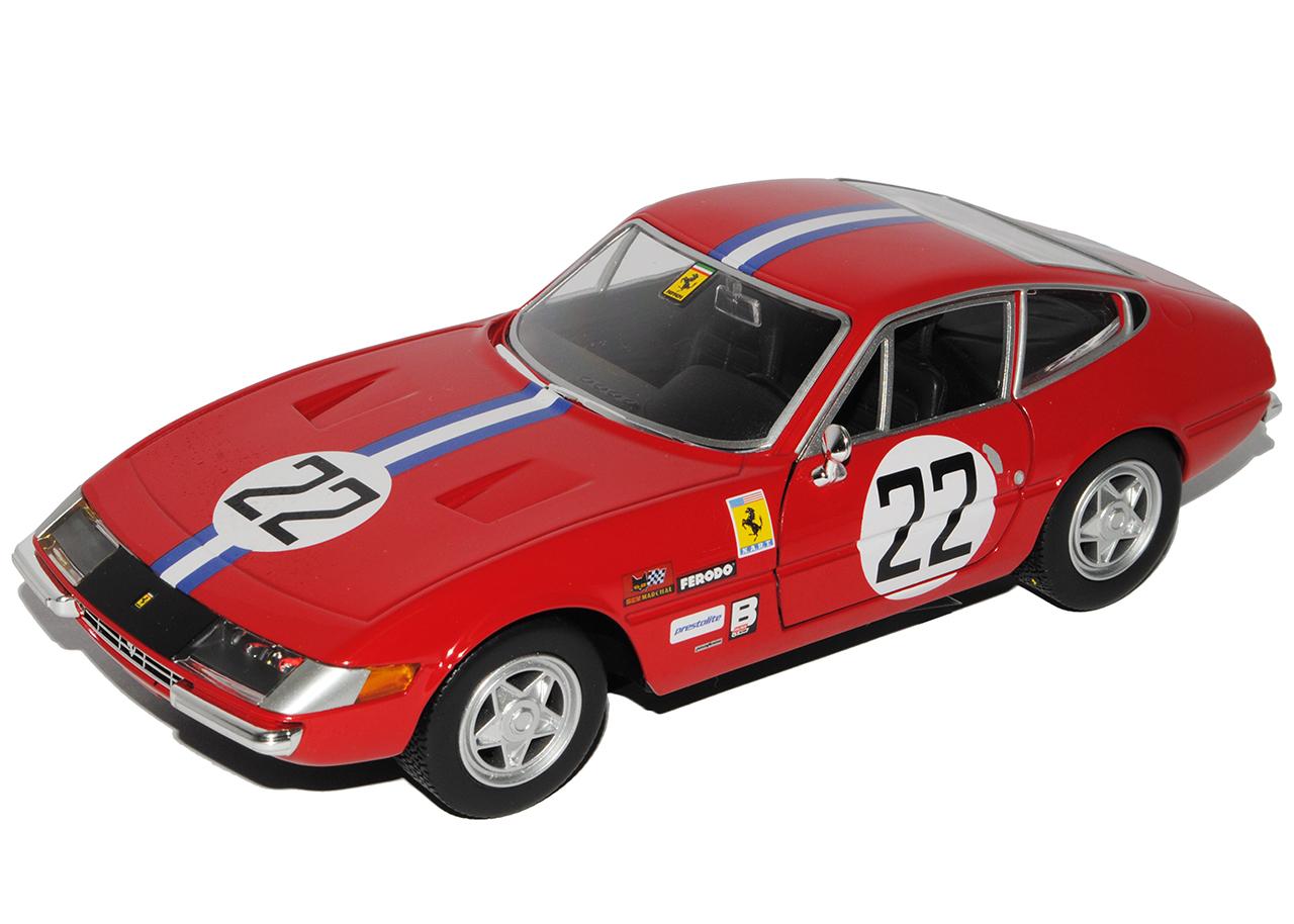 Ferrari 365 GTB4 Nr 22 Competizione 1a serie 1966-1973 rojo 1//24 Bburago modelo...