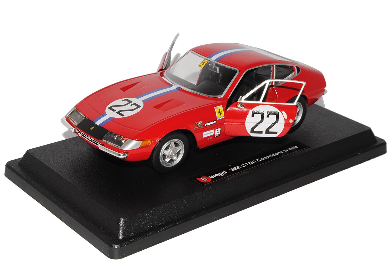Ferrari 365 GTB4 Nr 22 Competizione 1a Serie Rot 1966-1973 1//24 Bburago Modell..