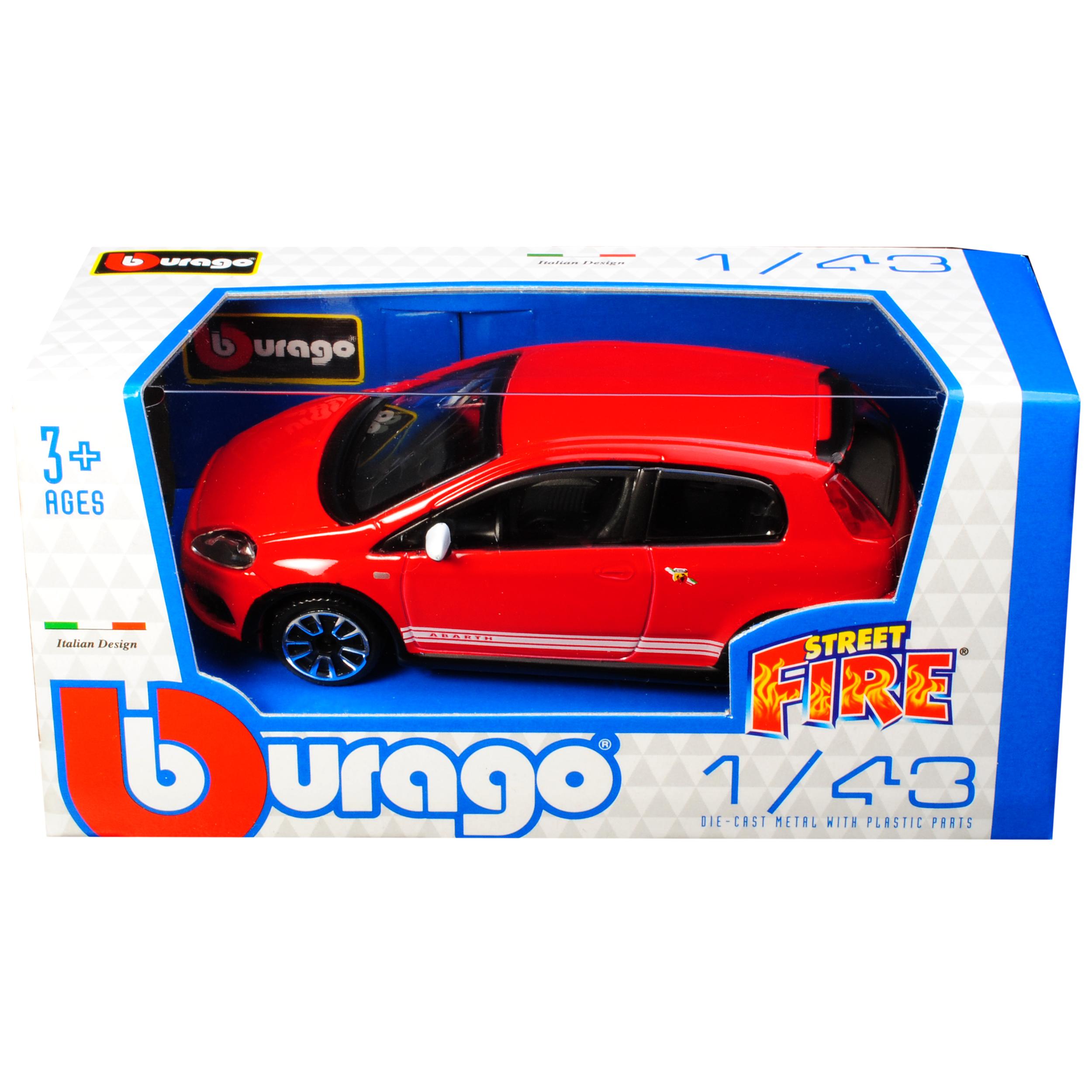 Modelo de 2005 1//43 Bburago modelo en Fiat Grande Punto Abarth rojo 3ª generación...
