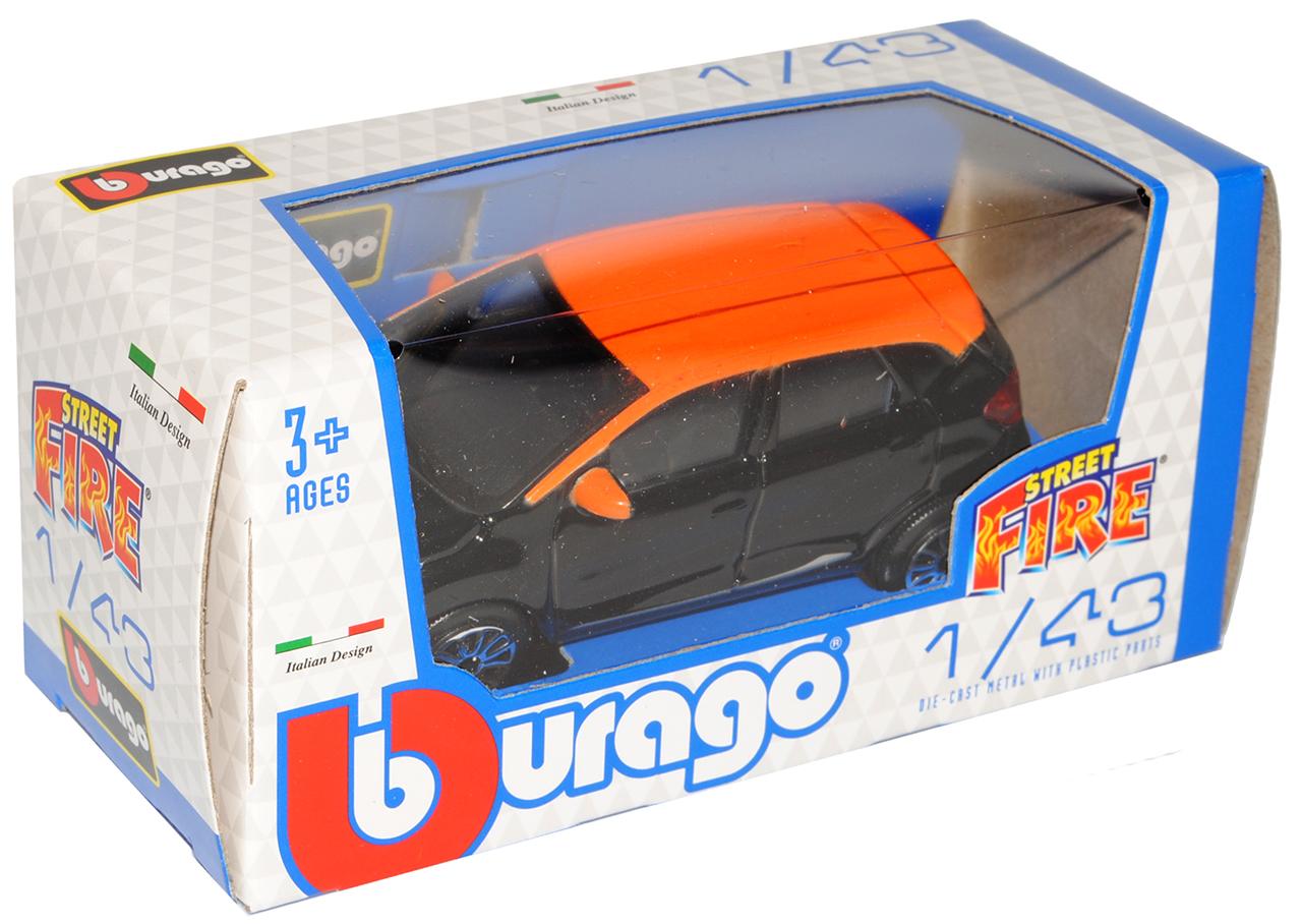 Renault Captur Schwarz mit Orange Ab 2013 1//43 Bburago Modell Auto mit oder oh..