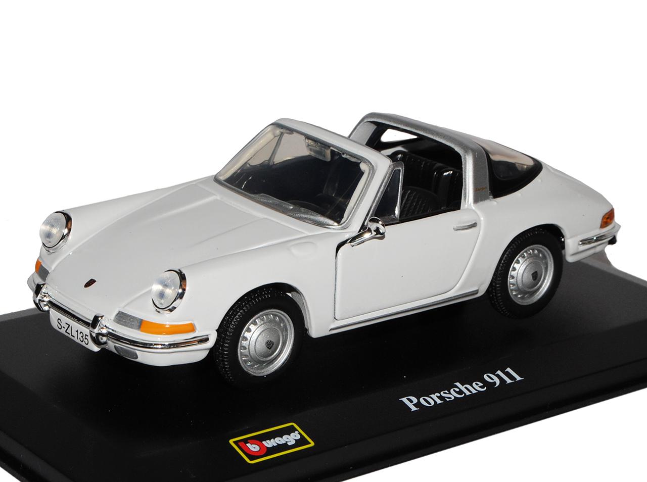 Porsche 911 Urmodell Targa Weiss 1963-1973 1//32 Bburago Modell Auto mit oder o..