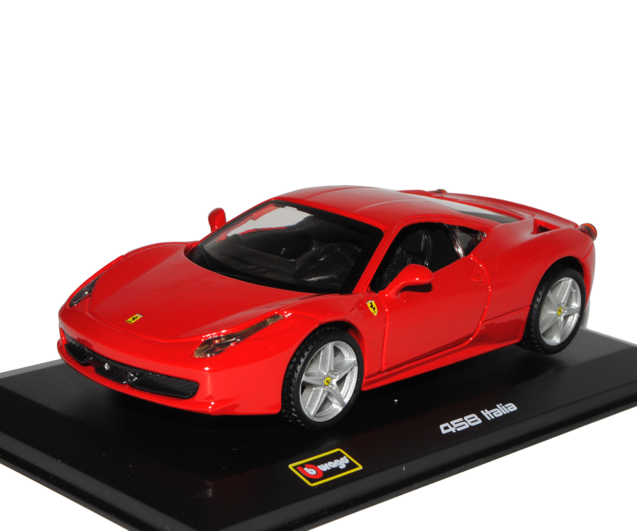 Ferrari 458 Italia Coupe Rot Ab 2009 mit Sockel und Vitrine 1//32 Bburago Model..