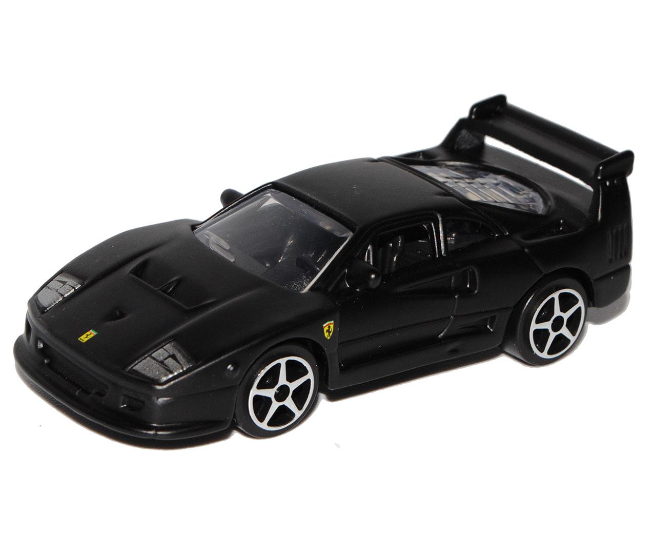 FERRARI f40 Coupe nero opaco 1987-1992 1//64 Bburago modello auto con o senza...