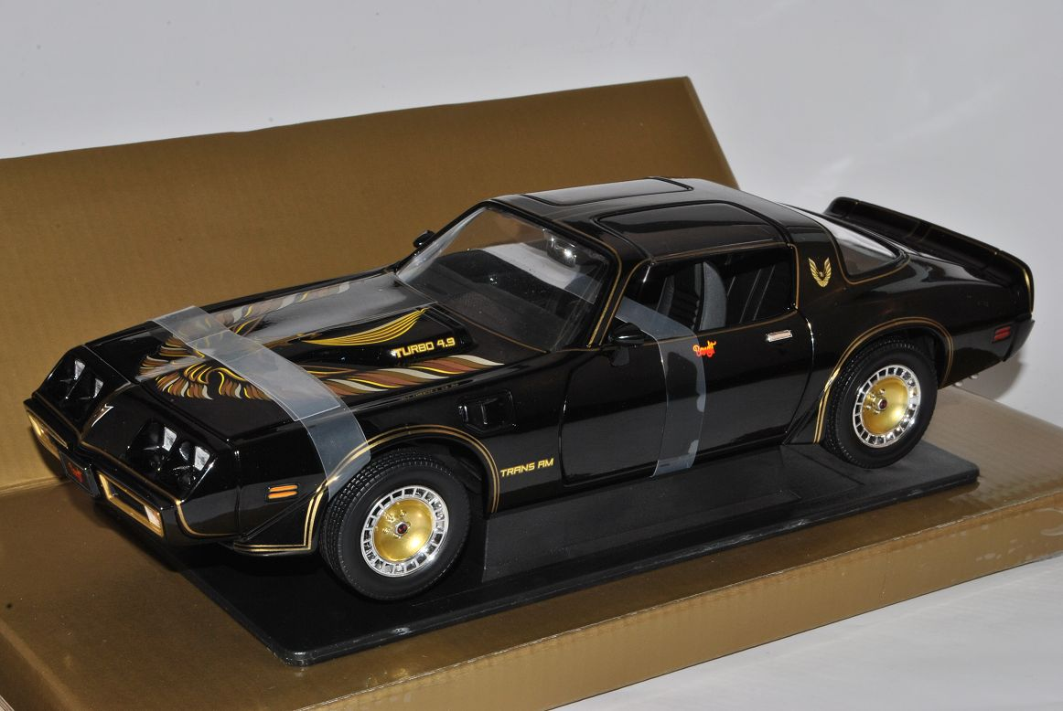 Pontiac TRANS AM 1980 Nero Smokey and the Bandit 1//18 Greenlight Modello aut...
