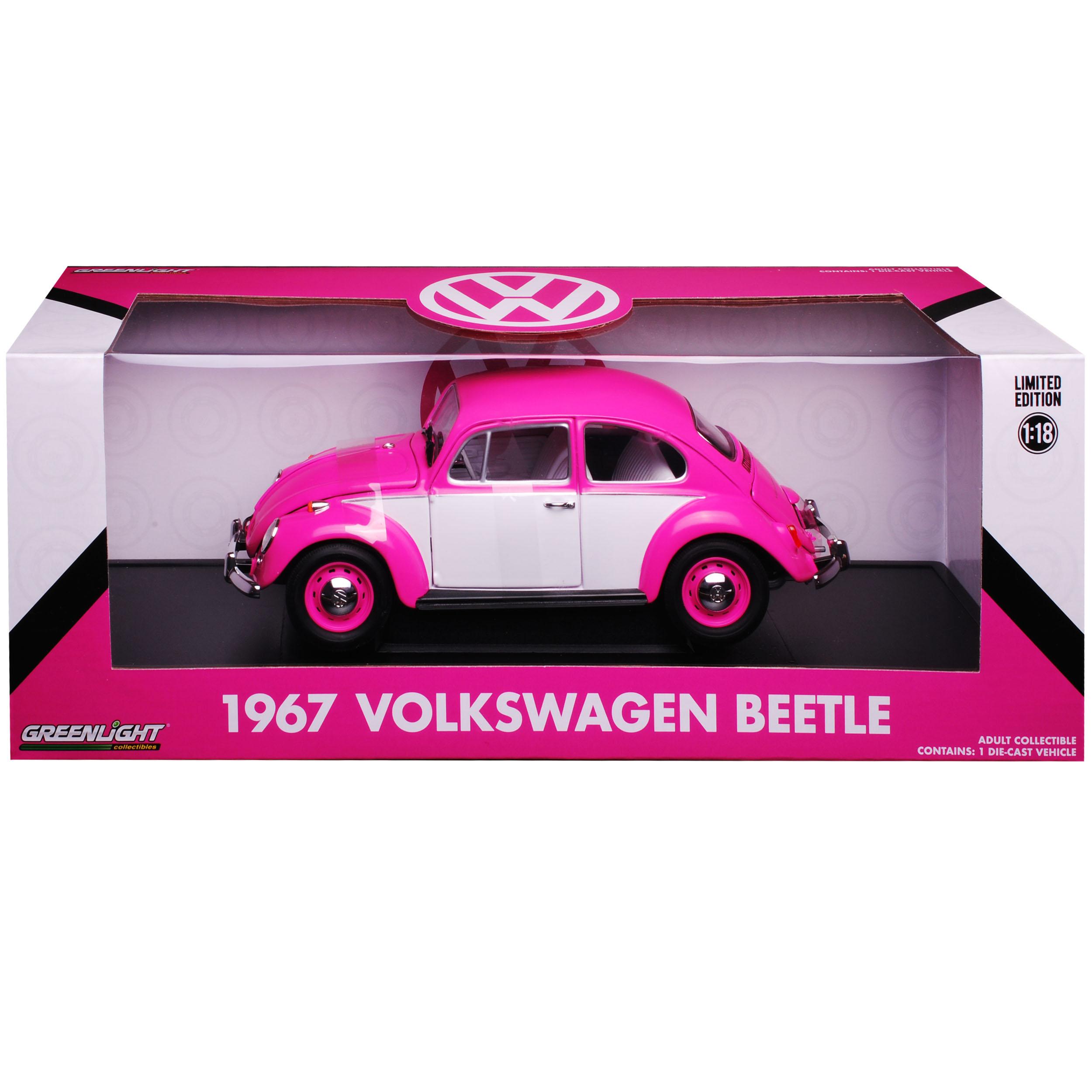 VW Volkswagen Käfer Beetle Coupe Pink mit Weiss 1//18 Greenlight Modell Auto mi..