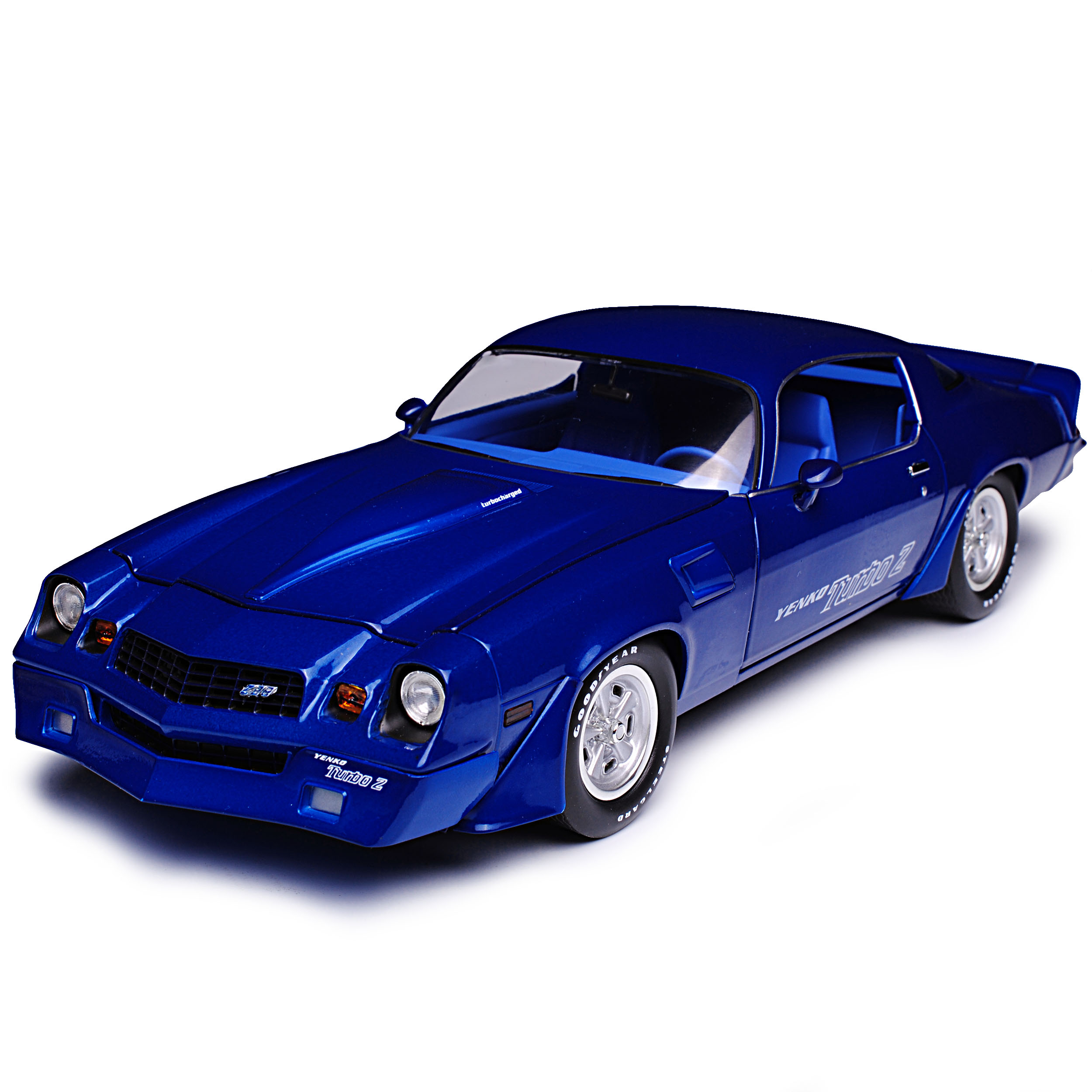 Generation 1970-1981 1//18 greenligh... CHEVROLET Camaro z28 Yenko TURBO Z BLU 2
