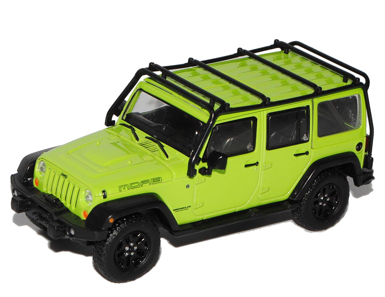 Jeep Wrangler JK Unlimited 5 Türer Grün mit abnehmbarem Dach Moab Ab 2007 1//43..