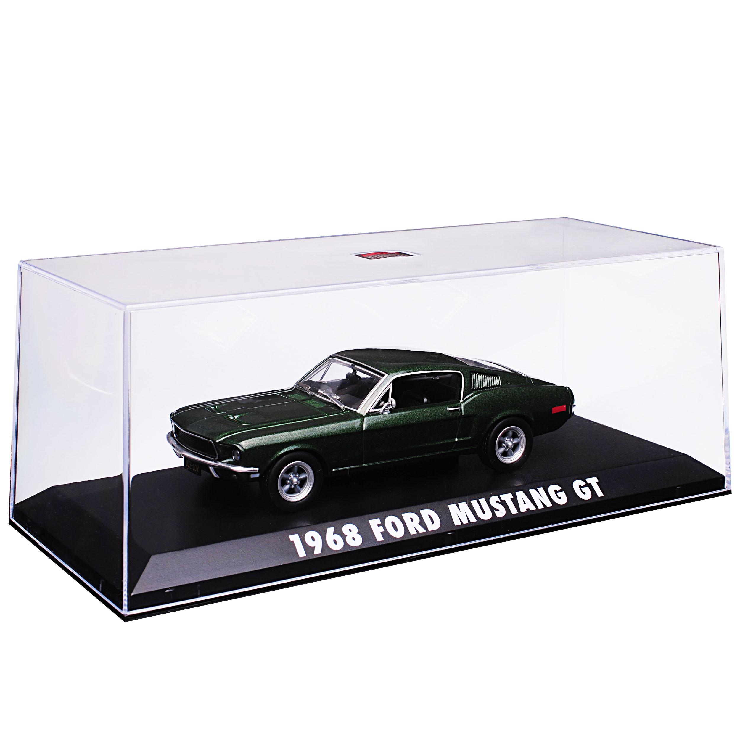 Ford Mustang Bullitt verde Coupe con personaje steve mcqueen 1968 1//43 GreenLight M..