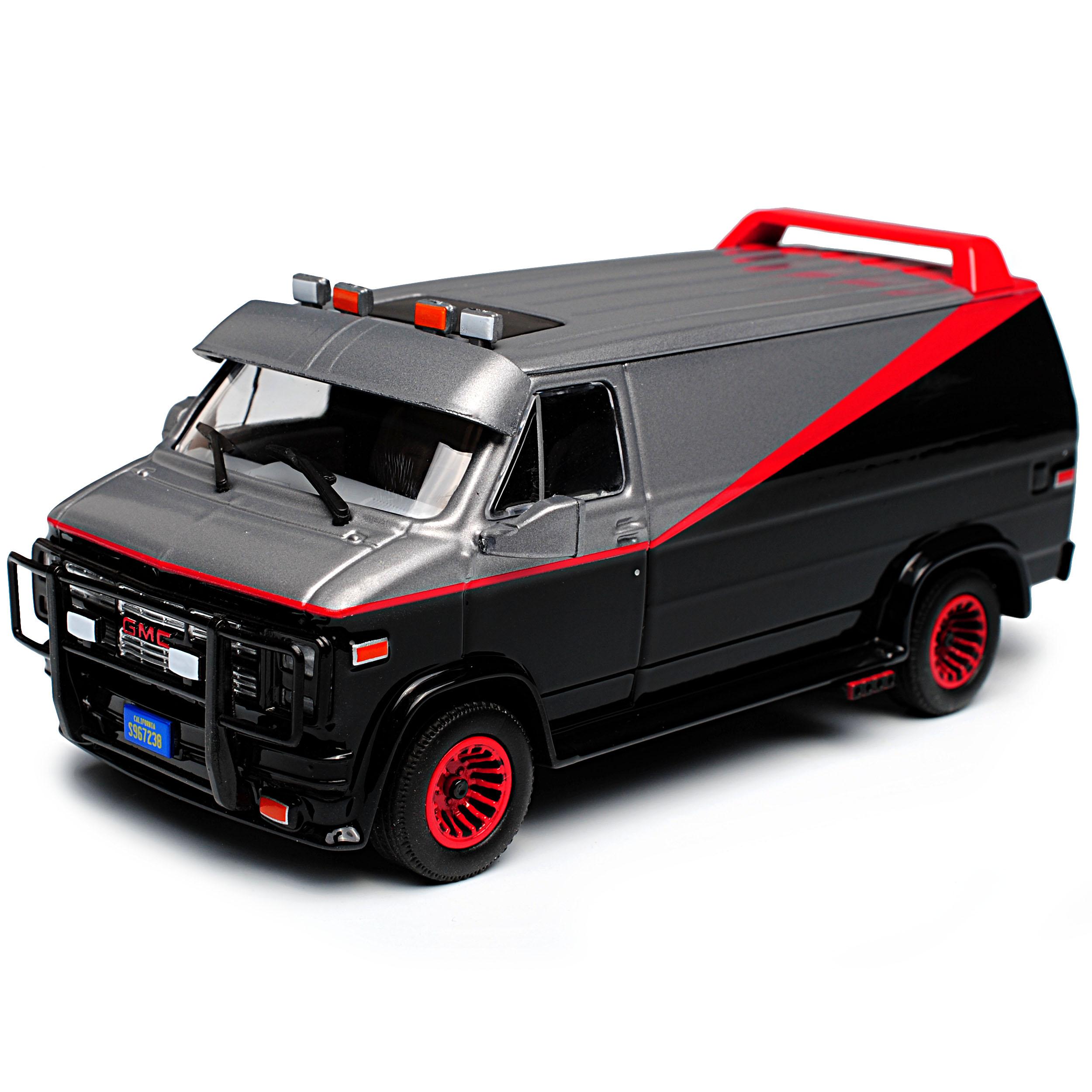 Gmc vandura the A-Team negro con rojo 1968-1996 1//43 GreenLight modelo auto M..