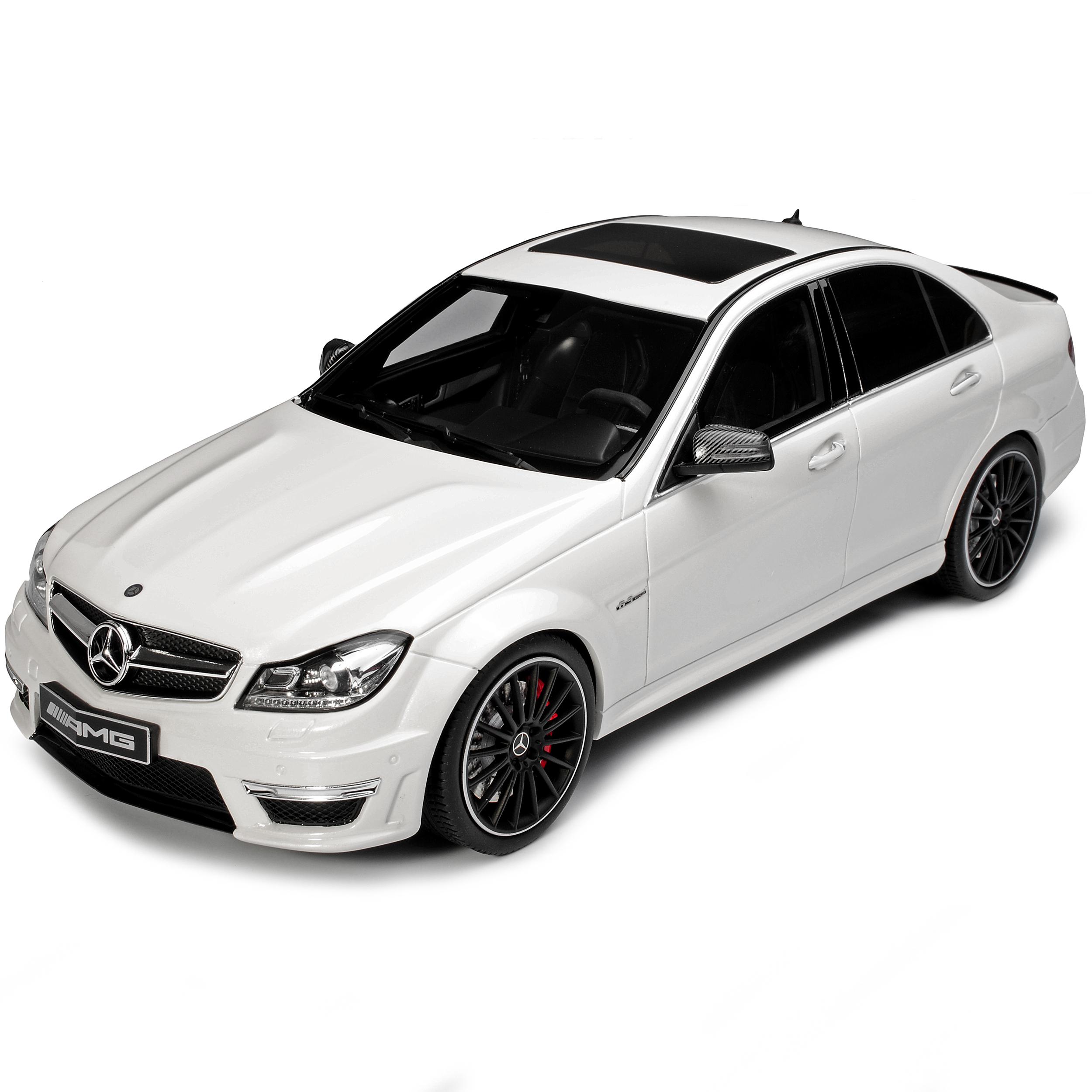 Mercedes-Benz Clase c C63 AMG W204 T sedán blanco 2007-2014 núm 166 1//18 GT....