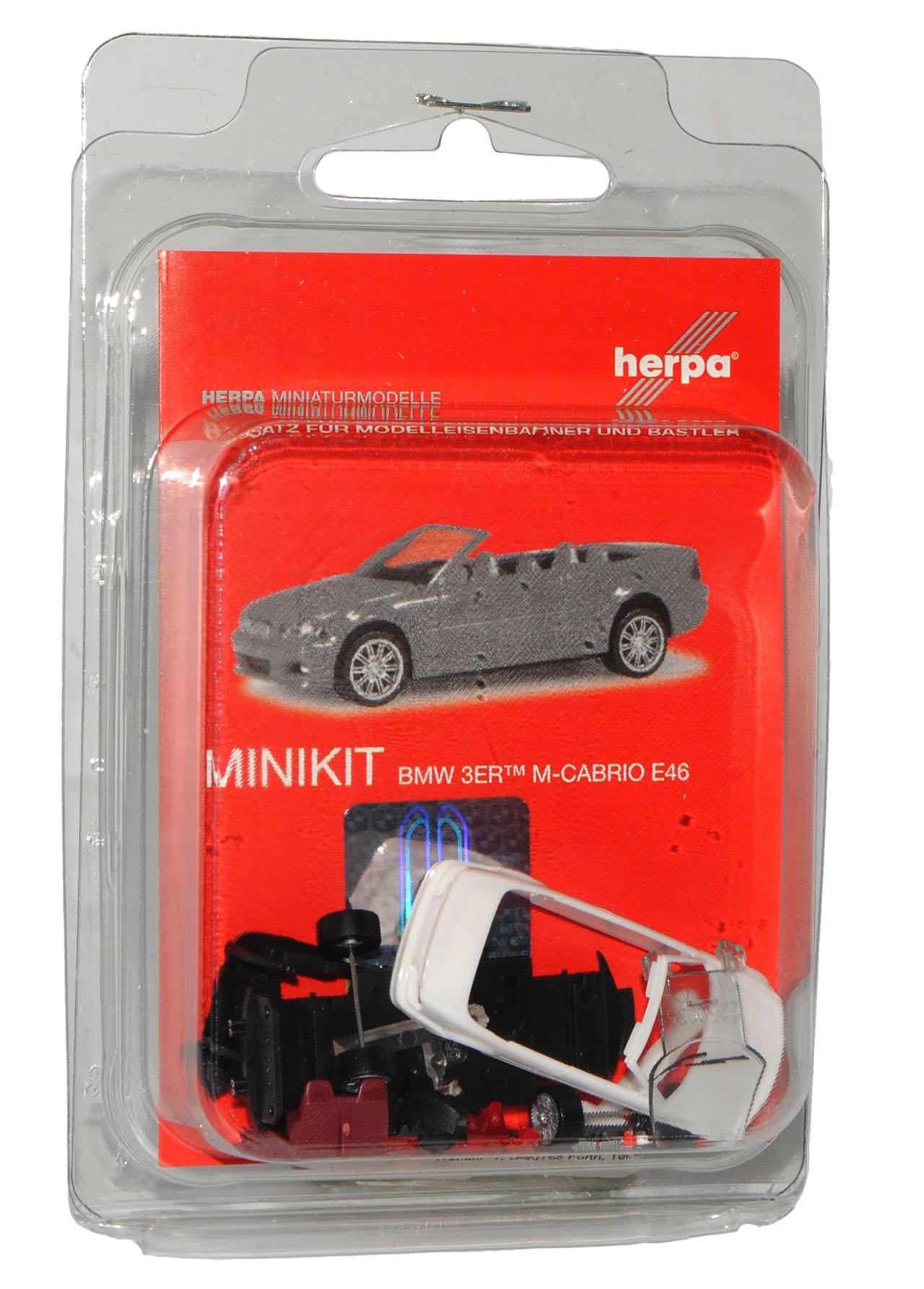 BMW 3er E46 Cabrio Weiss 1998-2007 Bausatz Kit H0 1//87 Herpa Modell Auto mit o..