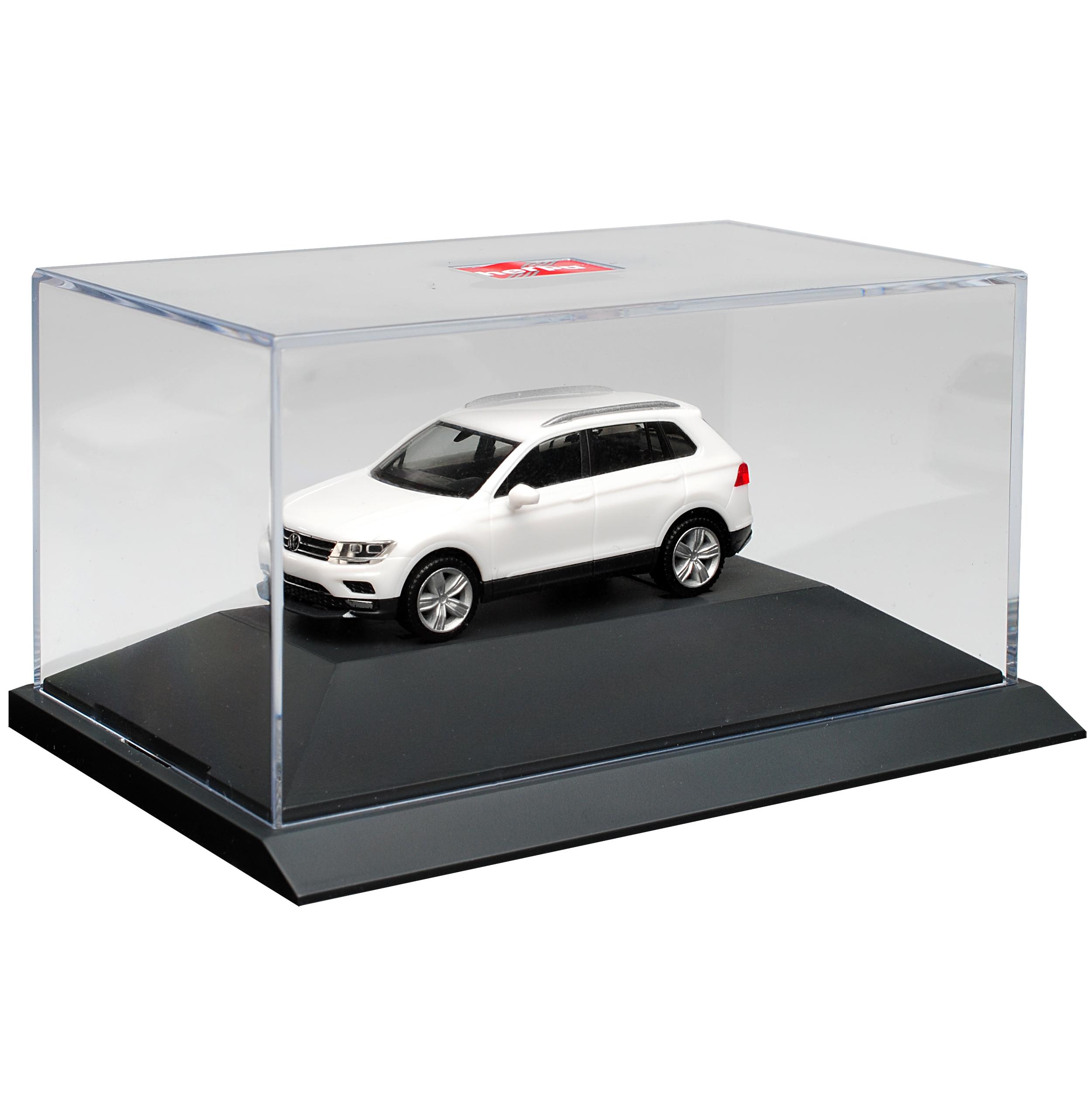 generación a partir de 2015 con zócalo y vitrina h0... VW Volkswagen Tiguan II Weiss 2