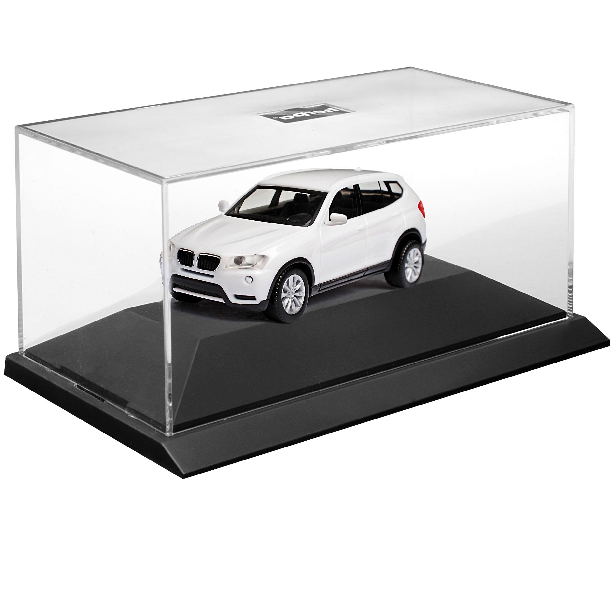 BMW X3 F25 Weiss SUV 2 Generation 2010-2017 Kit Bausatz mit Sockel und Vitrin..