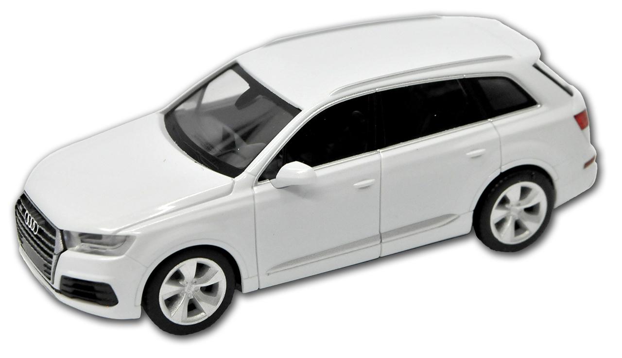 Generation Ab 2015 H0 1//87 Herpa Modell Auto mi.. Audi Q7 Gletscher Weiss SUV 2
