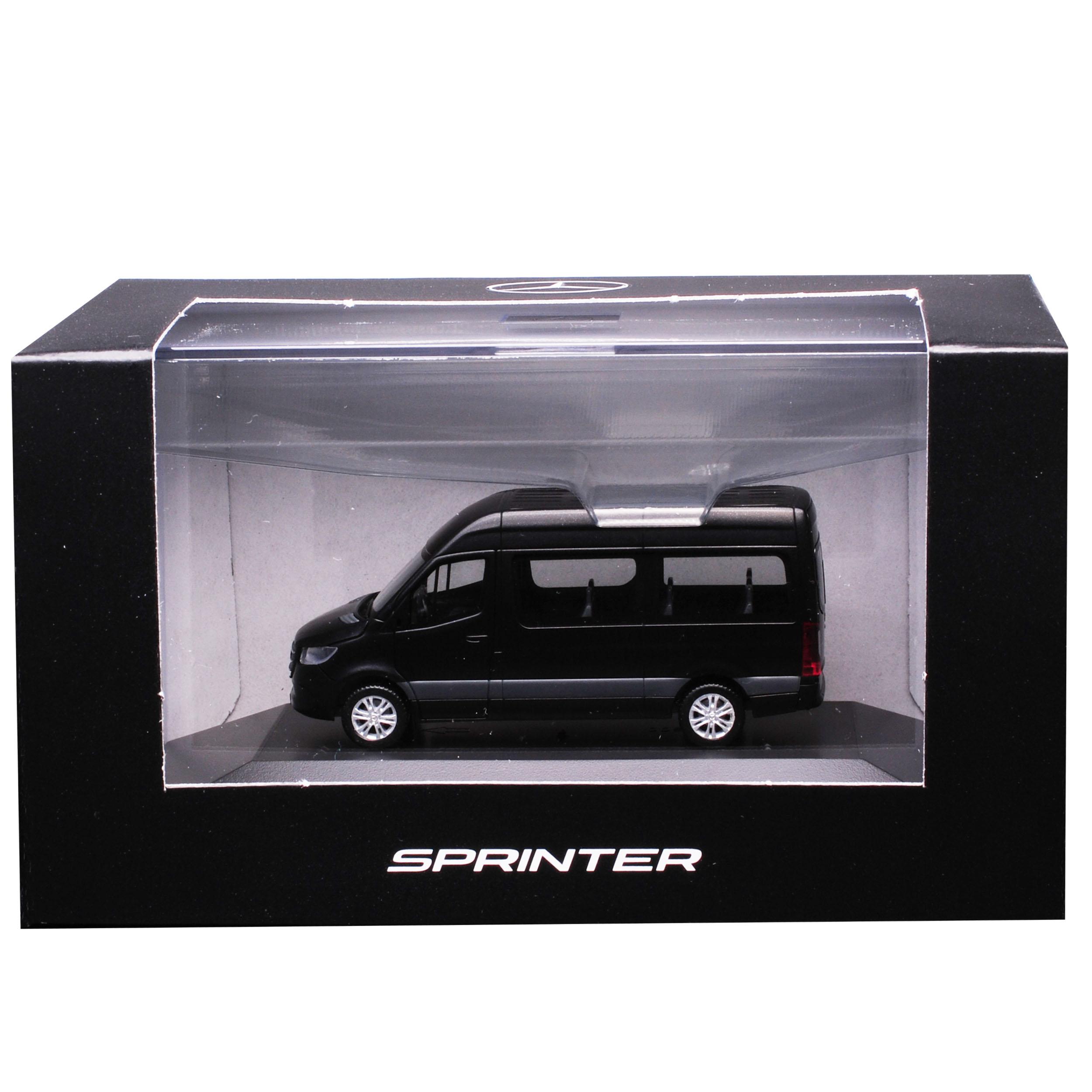 Mercedes-Benz Sprinter CS30 W907 W910 Personen Transporter Obsidian Schwarz 3...