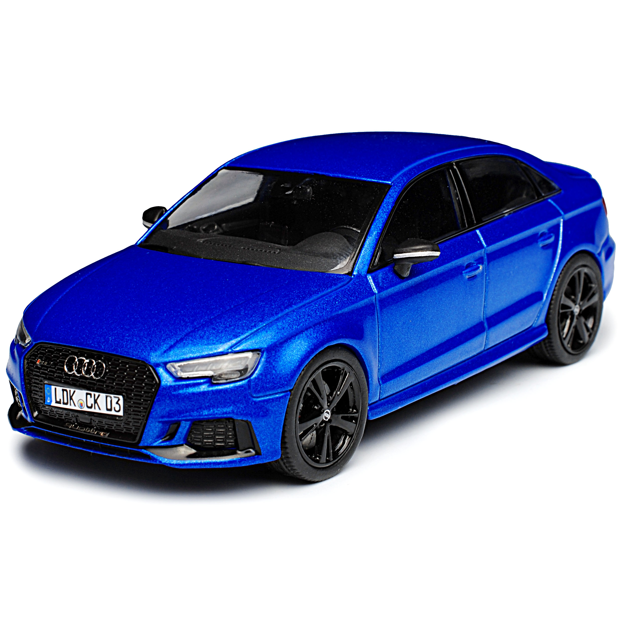 generación a partir de 2012 modelo a partir de 2016 1//43 KY... Audi a3 rs3 8v 8va Limousine azul 3