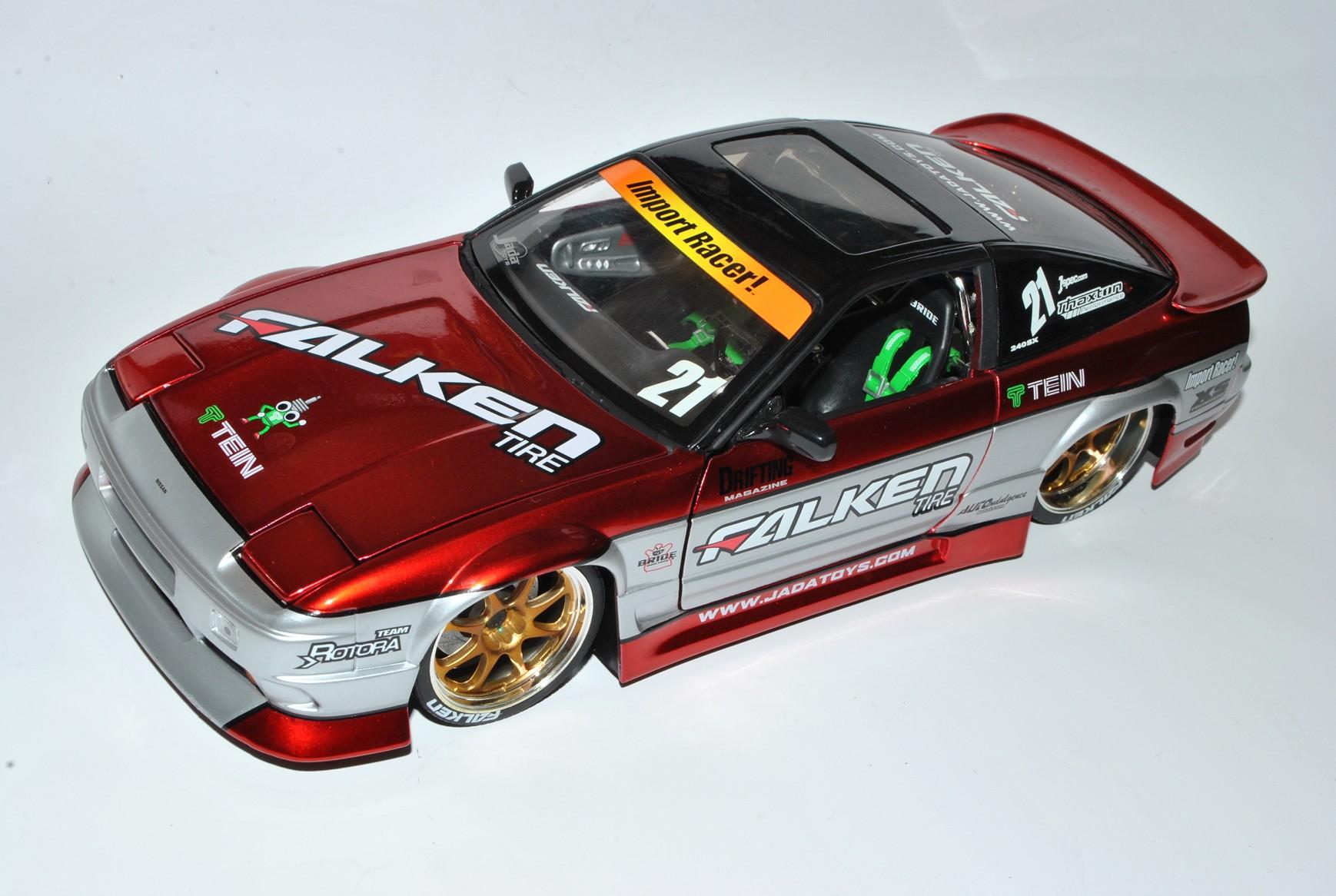 Nissan 240sx rojo tuning 1//18 jada modelo coche con o sin individiuellem Erice...