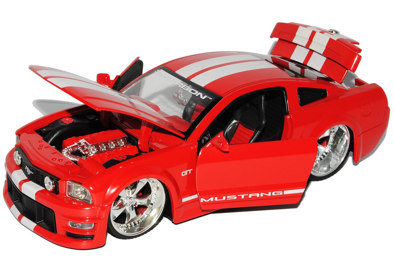 Articoli Speciali Ford Mustang V 1 generazione Shelby gt-500kr rosso con conteggi bianchi...