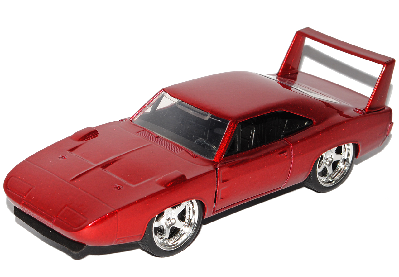 DODGE CHARGER R//T Dom/'s muscle cars COUPE ROSSO METALLIZZATO The Fast and Furious 1//...