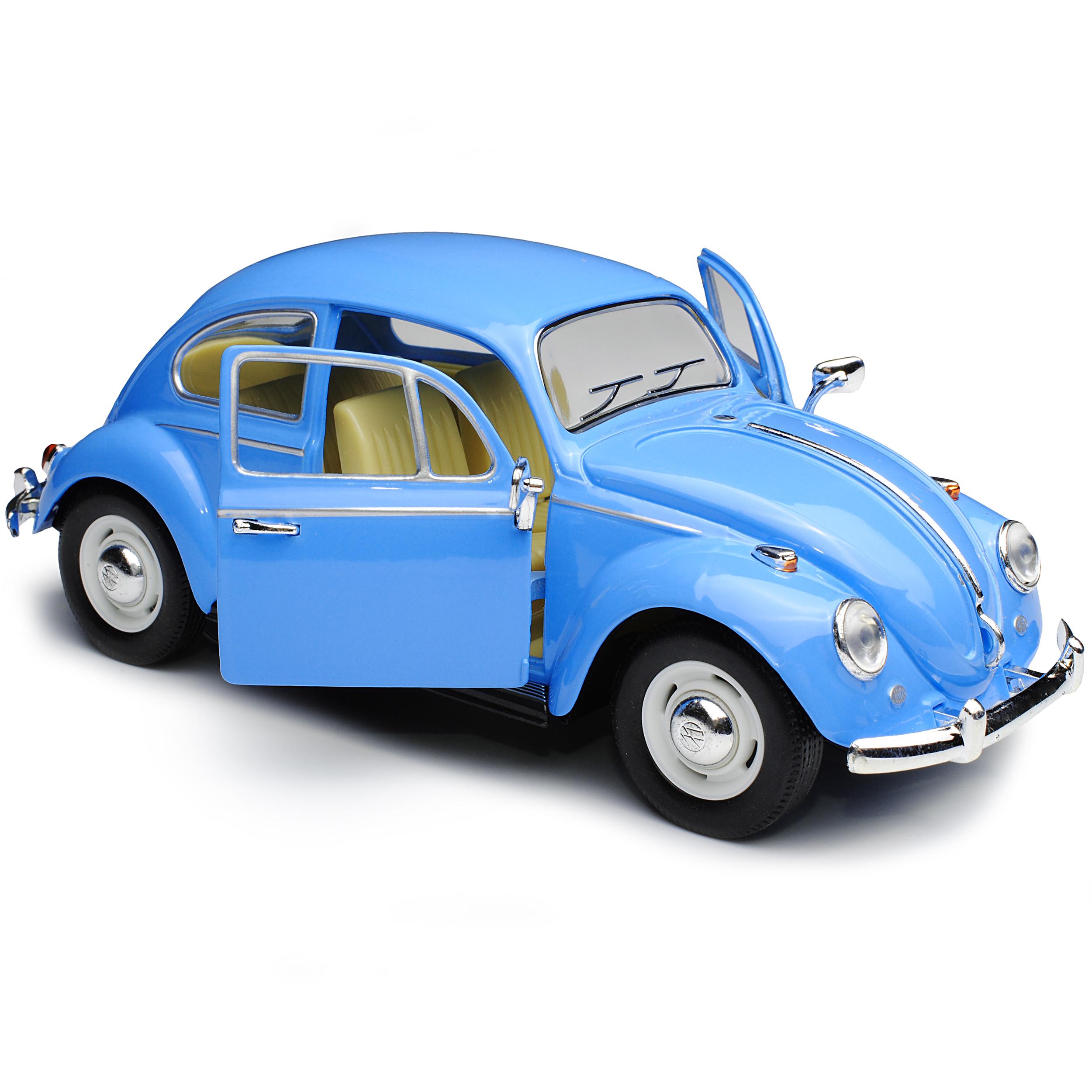 VW Volkswagen escarabajo Coupe Hell Blau 1938-2003 1//24 modelo de auto con o sin i...