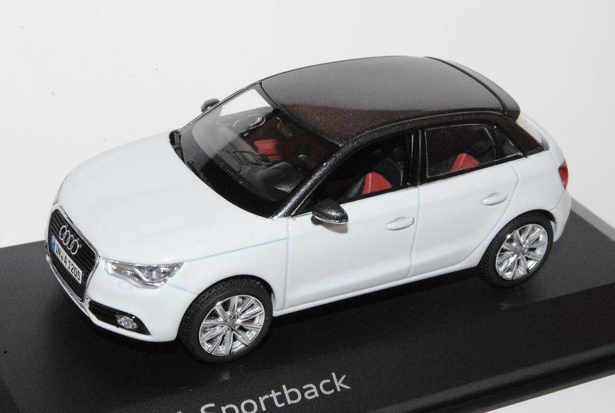 Audi A1 Sportback Glacier Weiss Grau Ab 2011 1//43 Kyosho Modell Auto mit oder ..
