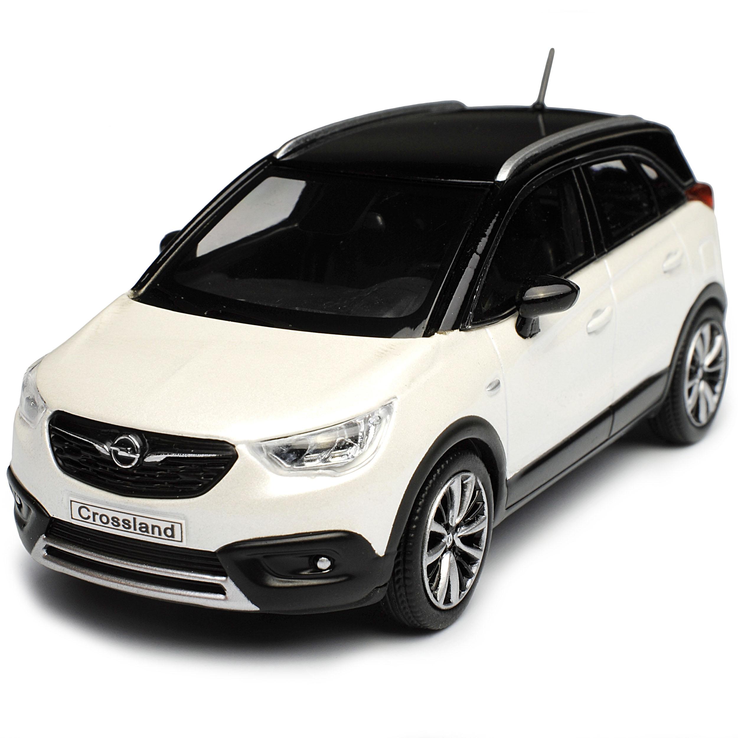 Opel Crossland X SUV Weiss mit schwarzem Dach Ab 2017 1//43 Kyosho i-Scale Mode..