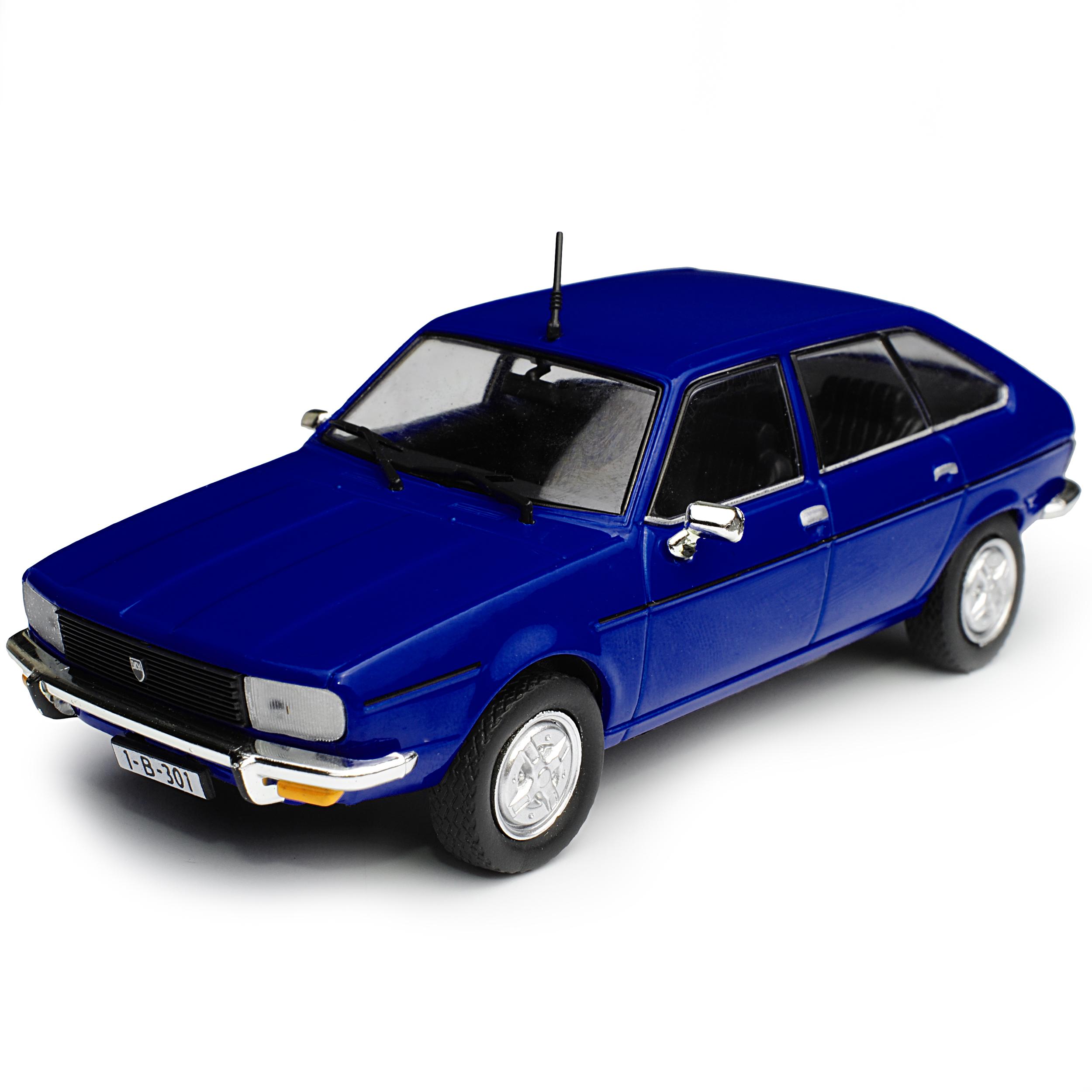 Dacia 2000 Limousine Blau Baugleich Renault R20 1975-1984 mit Sockel 1//43 Mode..