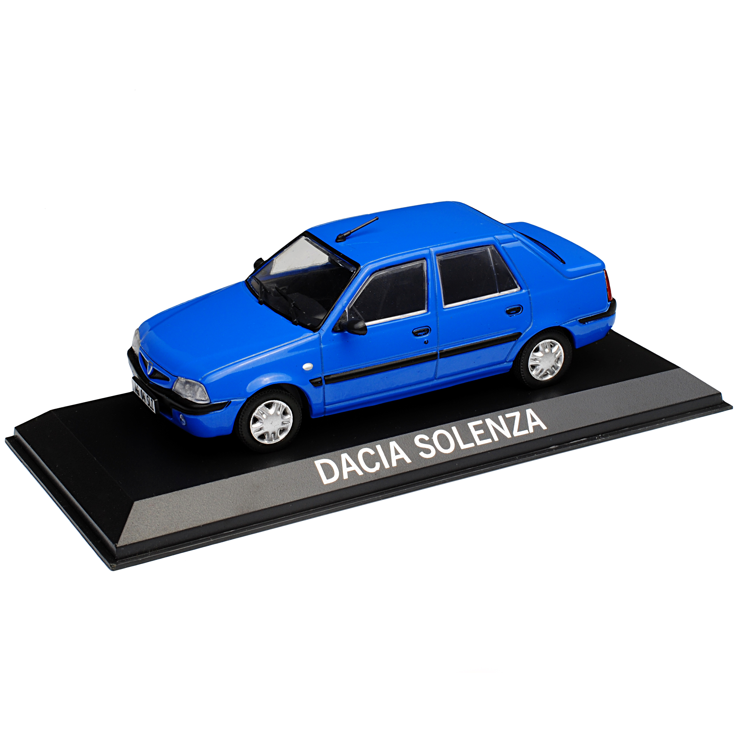 Dacia Solenza Limousine Blau 2003-2005 mit Sockel 1//43 Modellcarsonline Modell..
