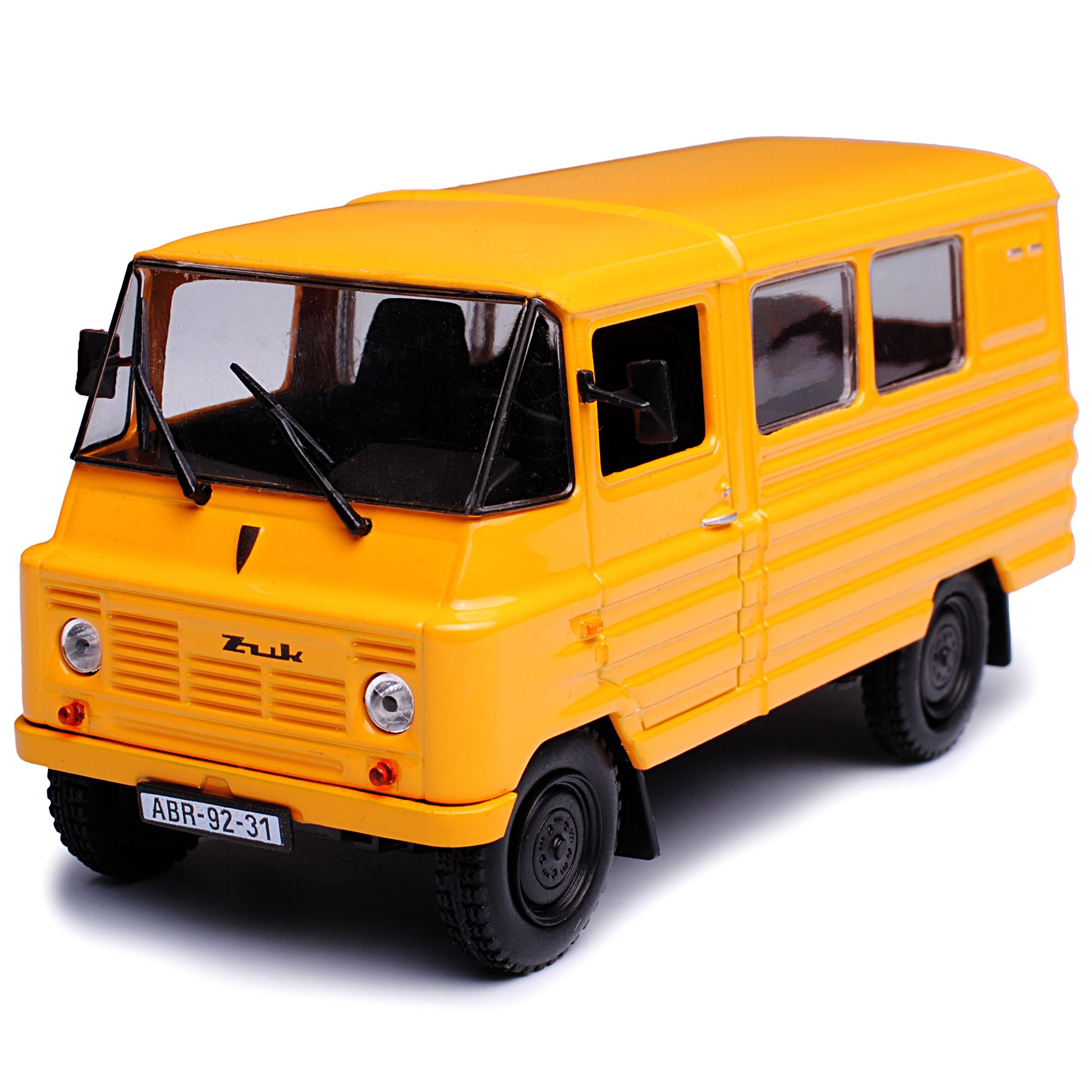Zuk a-07 TRANSPORTER Marrone Giallo 1//43 modellcarsonline modello auto con o senza...