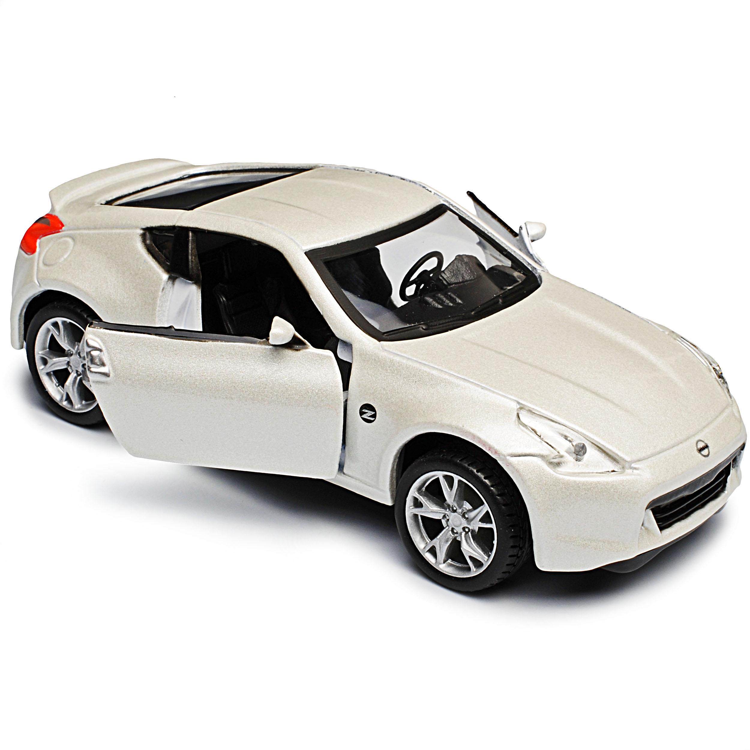 Nissan 370z z34 fair lady Z Weiss a partir de 2008 con motor de retracción ca 1//43 1//36-1//46 M..
