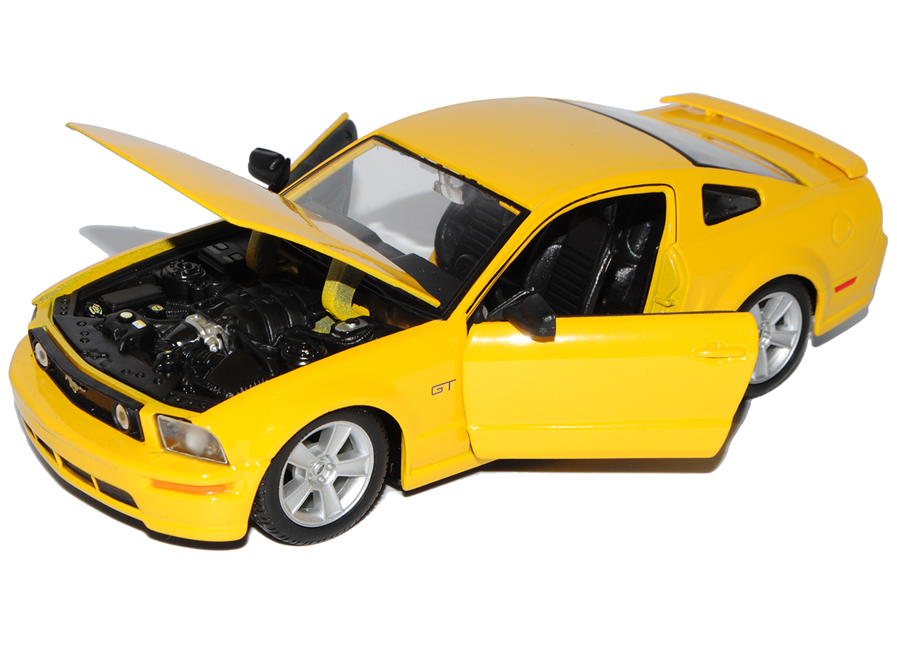Generation Coupe Gelb 2004-2009 1//24 Maisto Modell Auto m.. Ford Mustang GT V 1