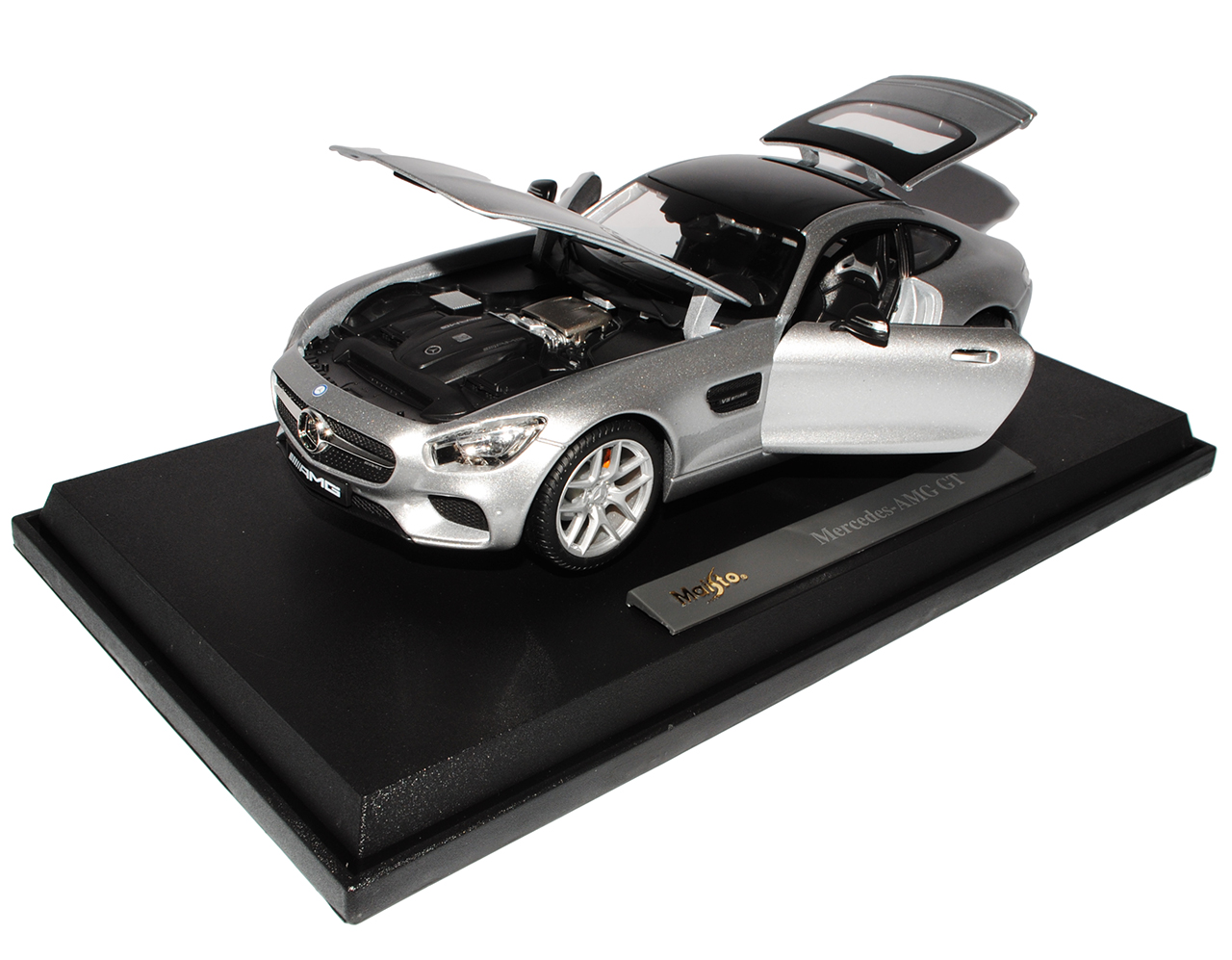 Mercedes-Benz AMG GT S Coupe Silber Ab 2014 1//18 Maisto Modell Auto mit oder o..