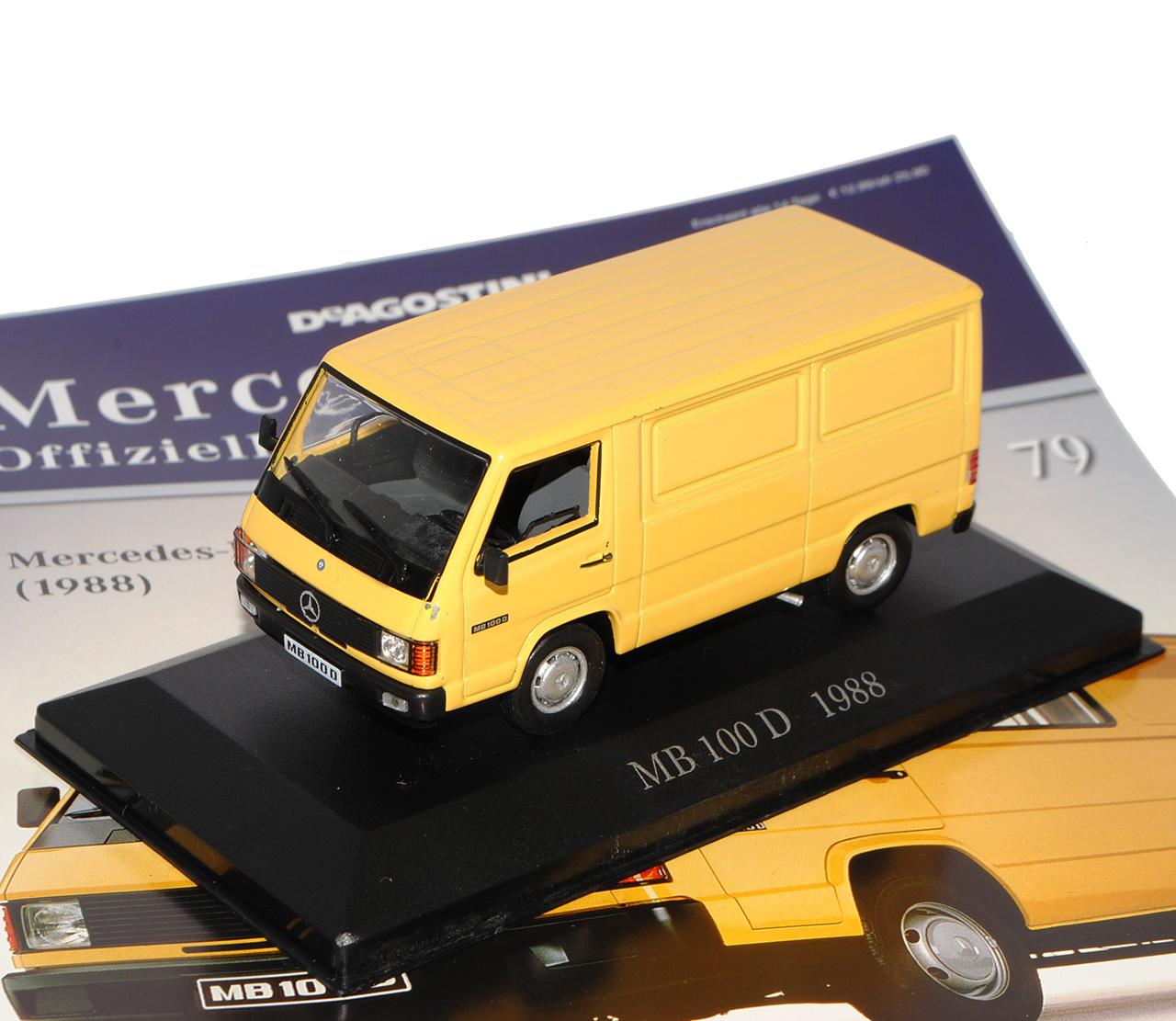 Mercedes-Benz 100-180 D Transporter Kasten Gelb 1988-1995 Inkl Zeitschrift Nr ..