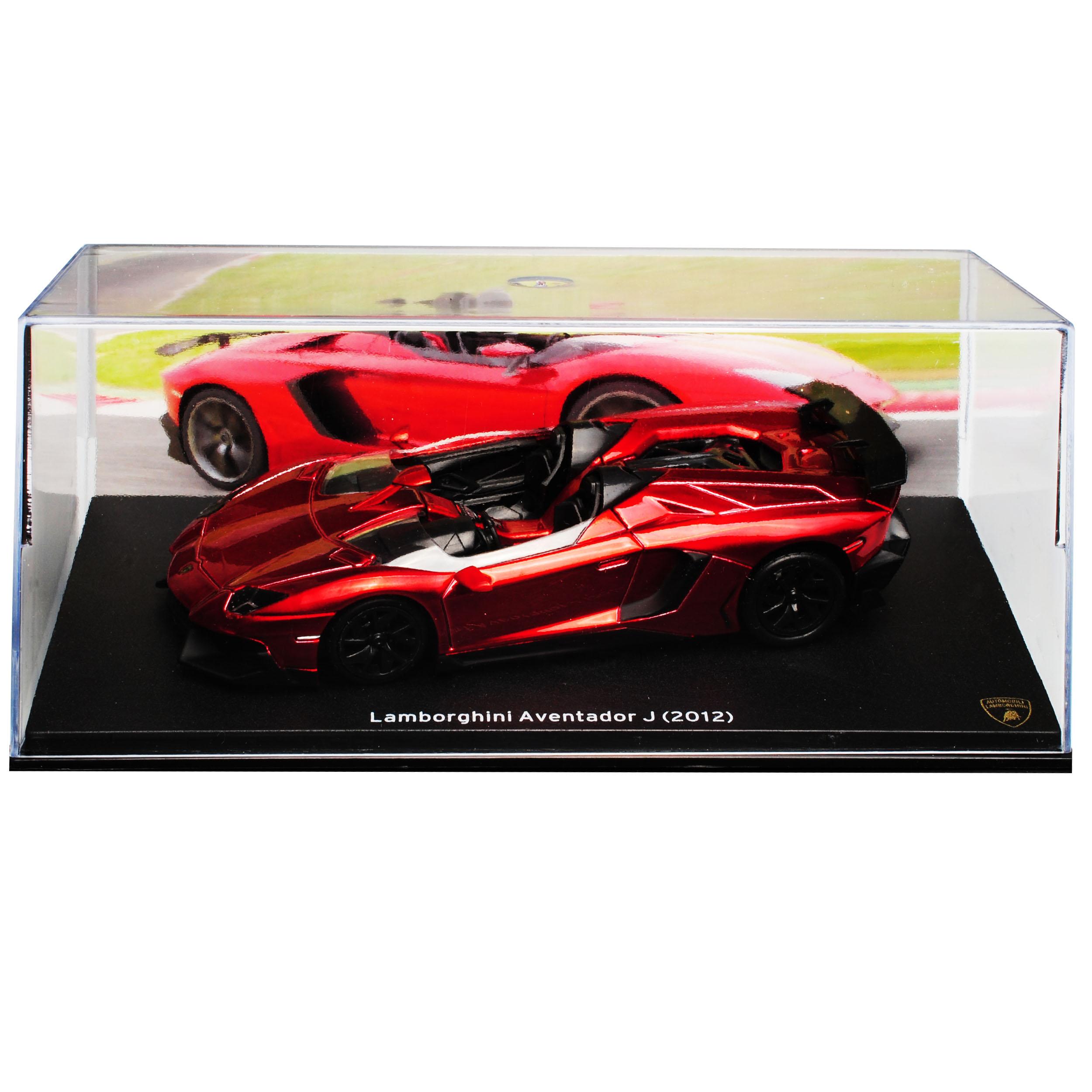 LAMBORGHINI Aventador J Cabrio Rosso metallizzato a partire dal 2011 1//43 Atlas modello auto con...