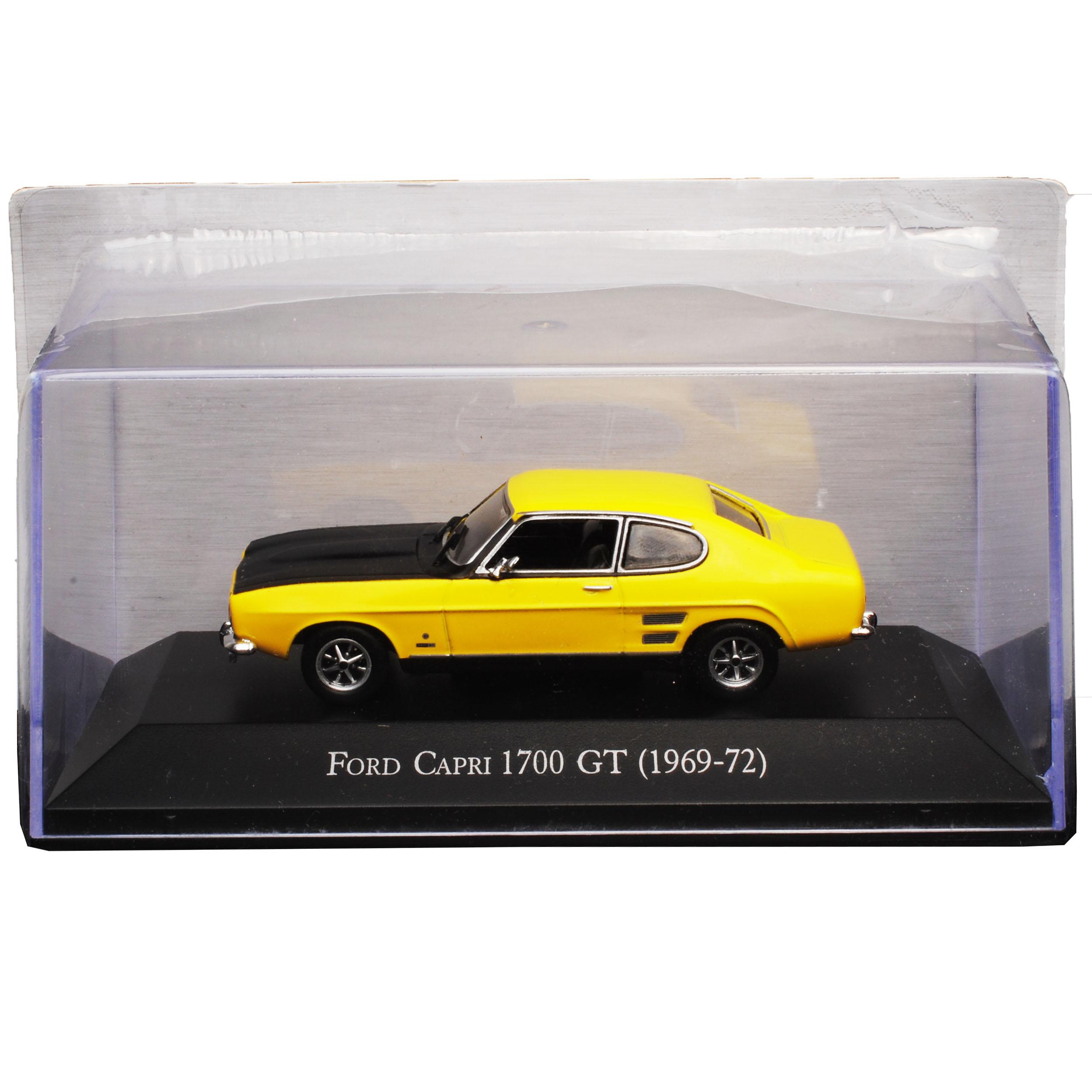Generation 1968-1973 con socket e vetrina 1.. FORD CAPRI GT 1700 Coupe Giallo 1