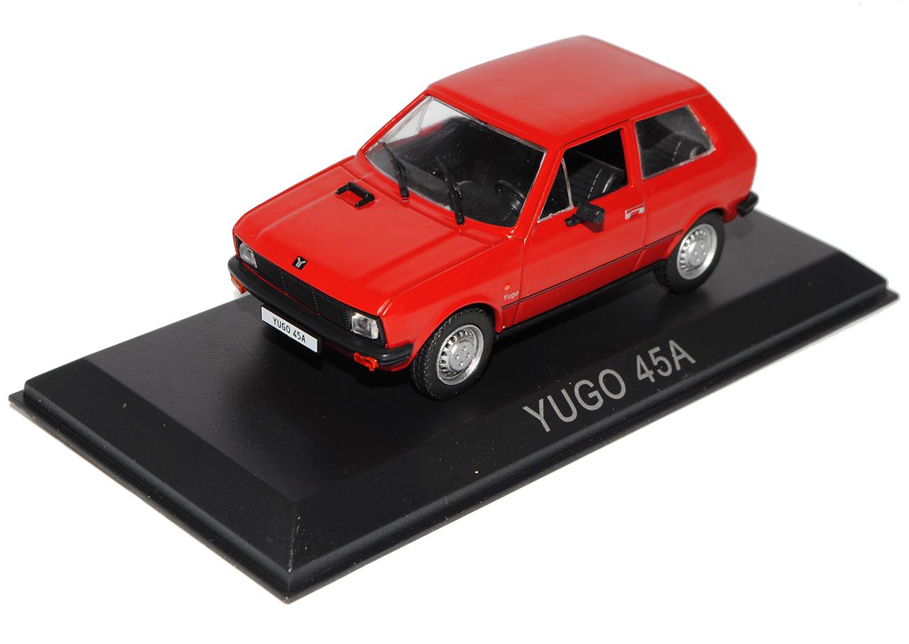 45A Yugo subcompacto rojo 1//43 Modellcarsonline modelo coche con o sin persona...