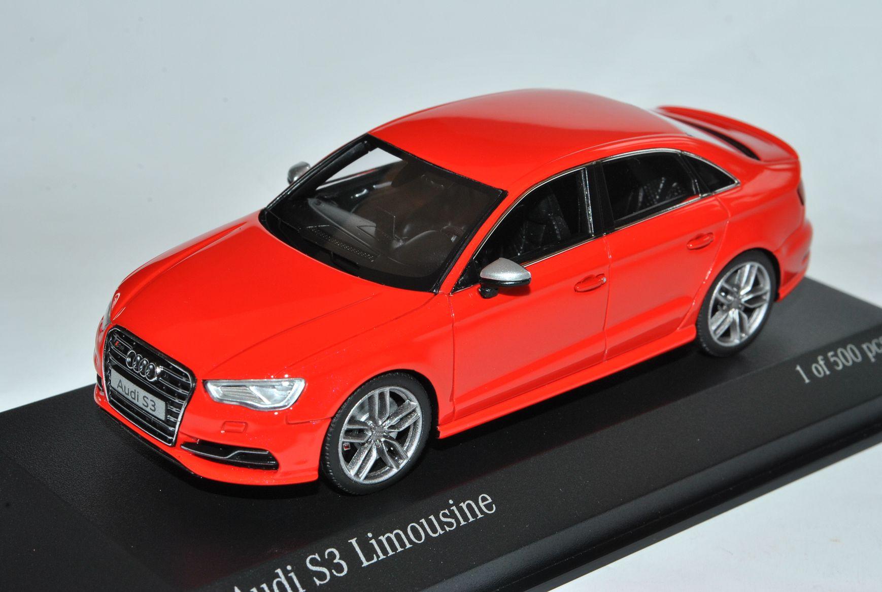 Audi a3 s3 8v Sedán rojo a partir de 2013 1//43 Minichamps modelo coche con o sin...