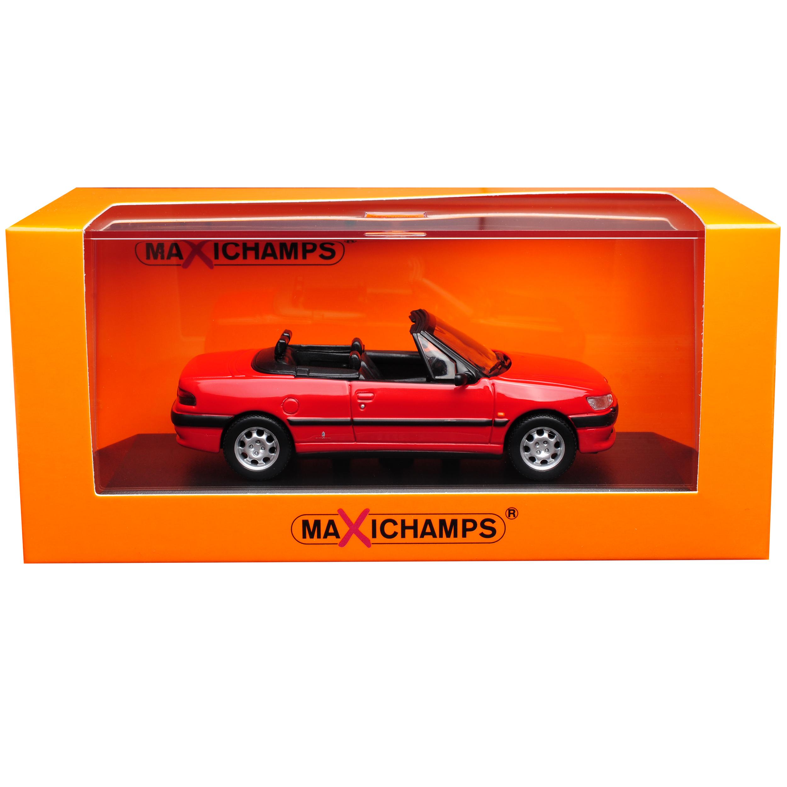 Peugeot 306 Cabrio rojo 1994-2002 1:43 coches de modelo de Minichamps Maxichamps con od...