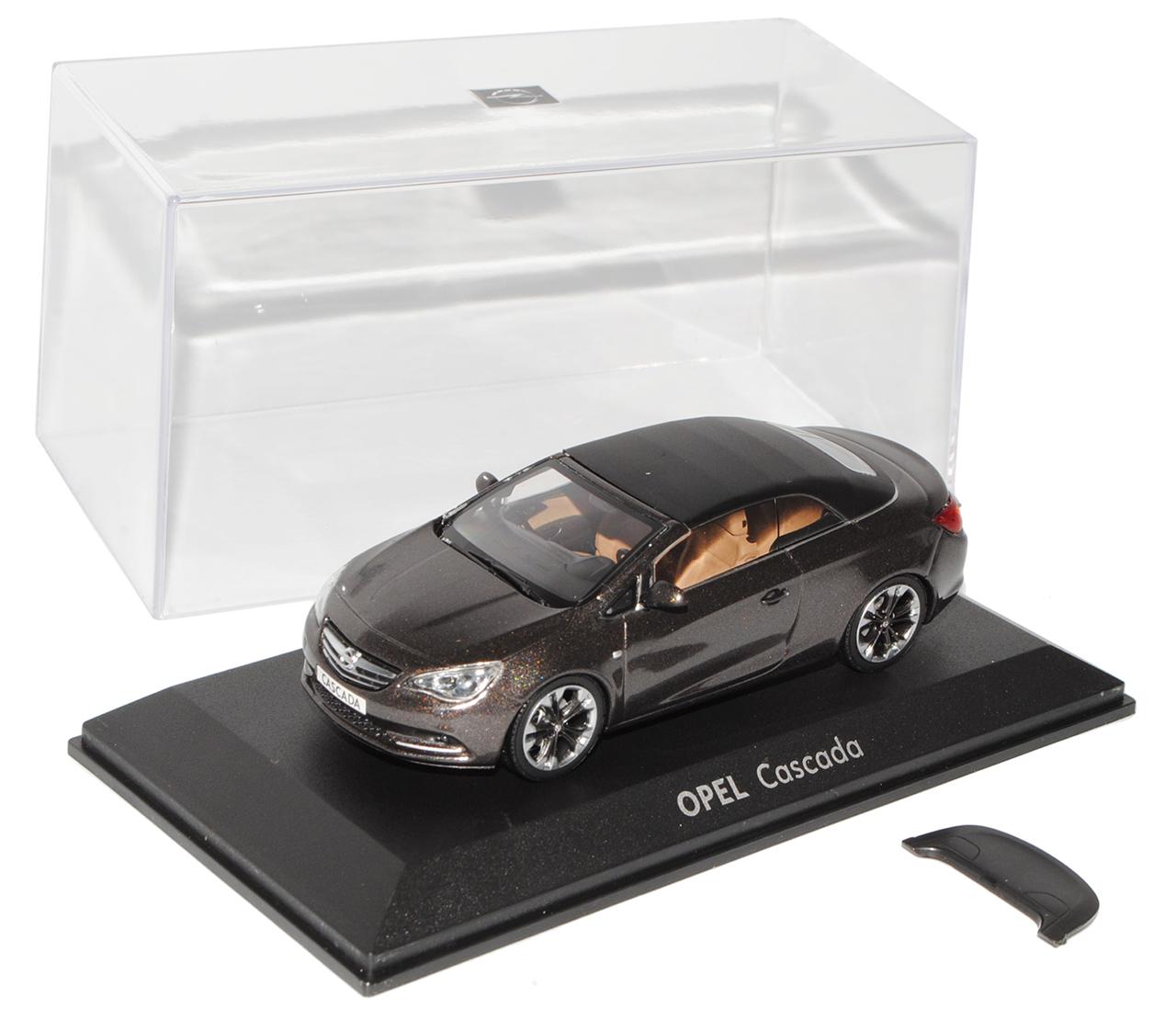 Opel cascada asteroide gris convertible abierta con Soft top 1//43 Minichamps modelo au...