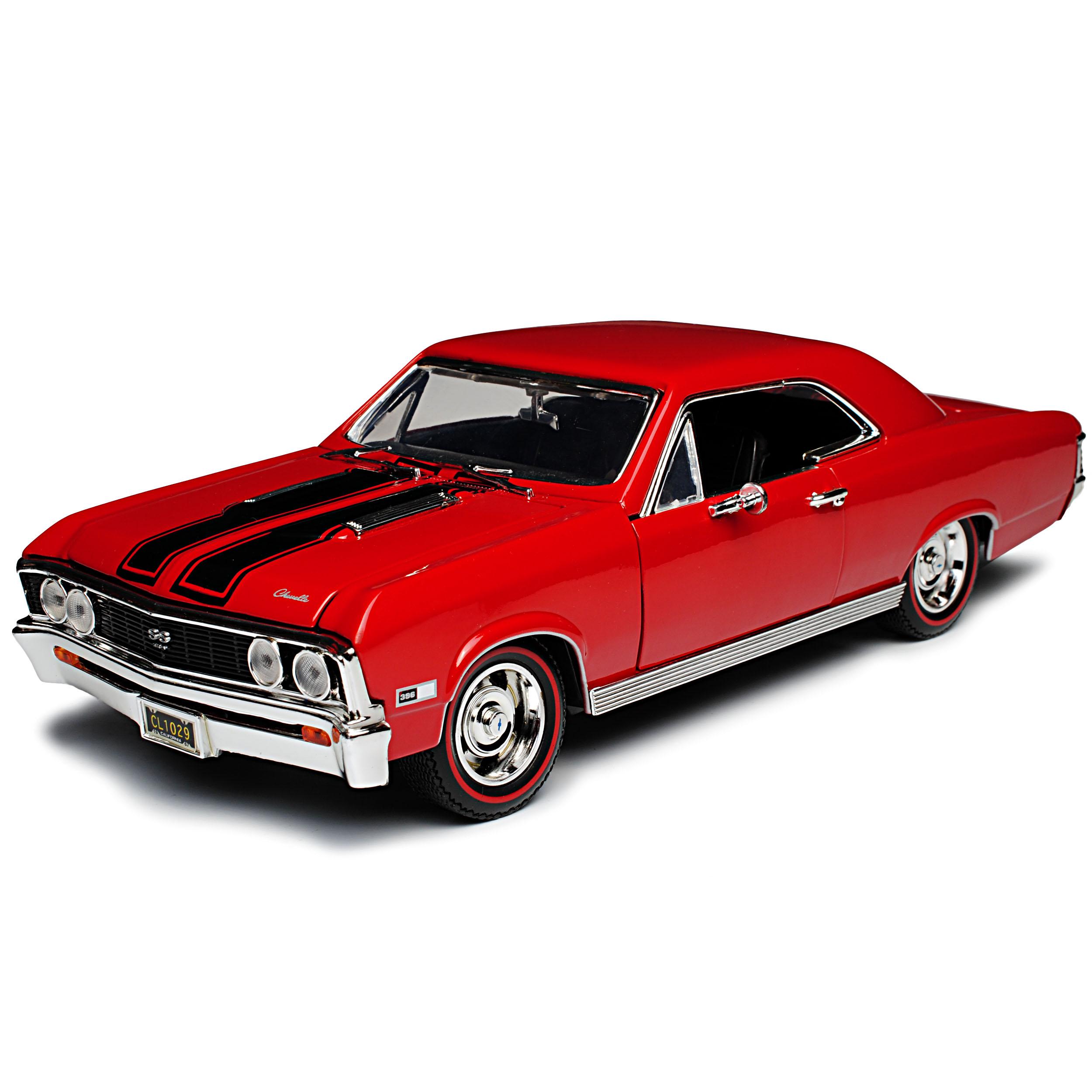 Chevrolet Chevelle SS396 Coupe Rot mit schwarzen Streifen 1 Generation 1964-1..