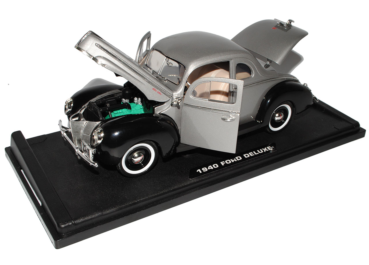 Ford Deluxe Coupe 11A 21A Grau Schwarz Motormax 1940-1942 1//18 modelo de coche con...