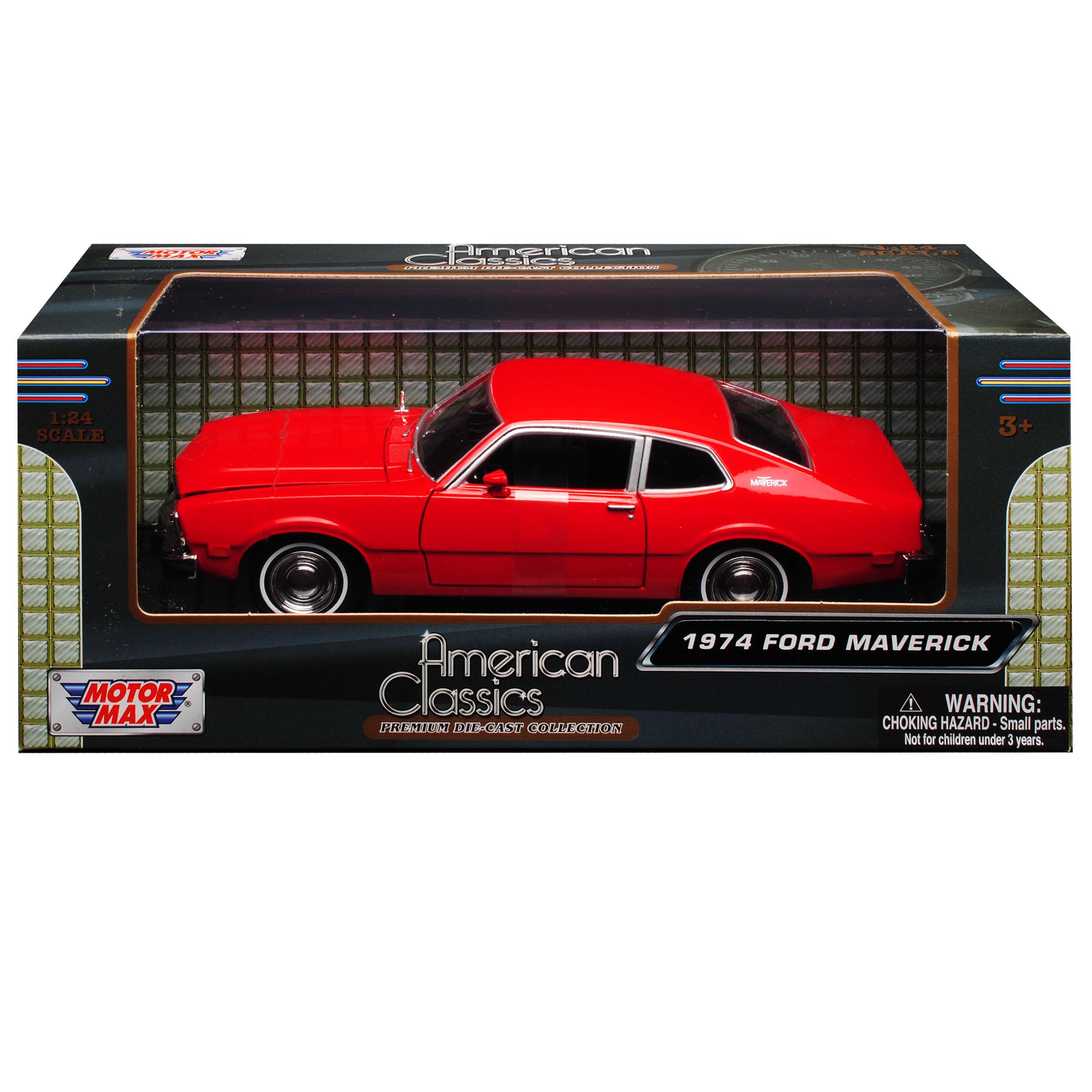 Ford Maverick Coupe Rojo 1969-1977 1//24 Motormax modelo coche con o sin indí...