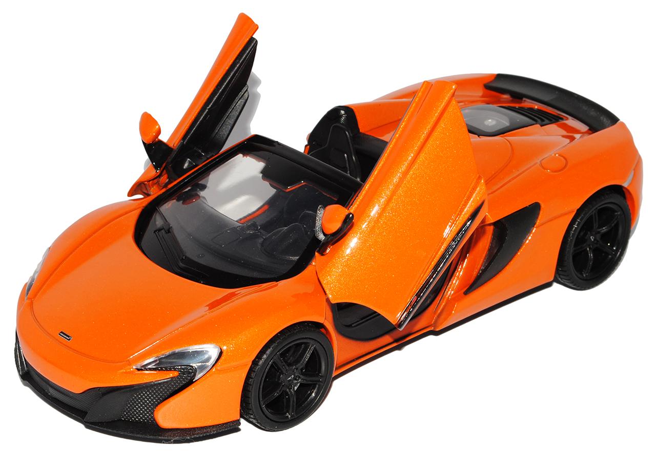 McLaren 650cs p1 Cabrio Arancione Nero a partire dal 2014 1//24 MotorMax modello auto con O..