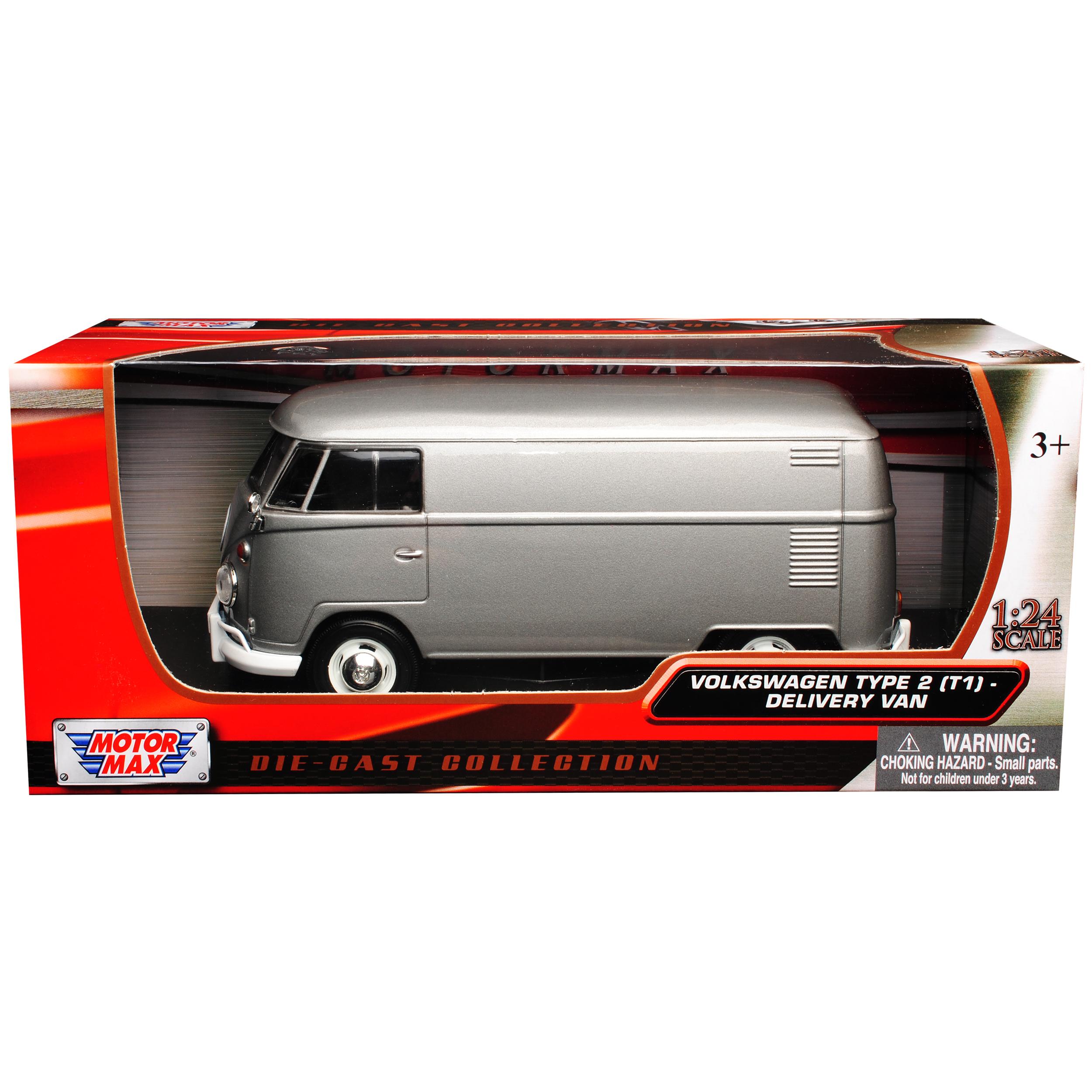 Transportador de caja metálica gris plata T1 de Volkswagen VW bus de matón de Samba 1950...