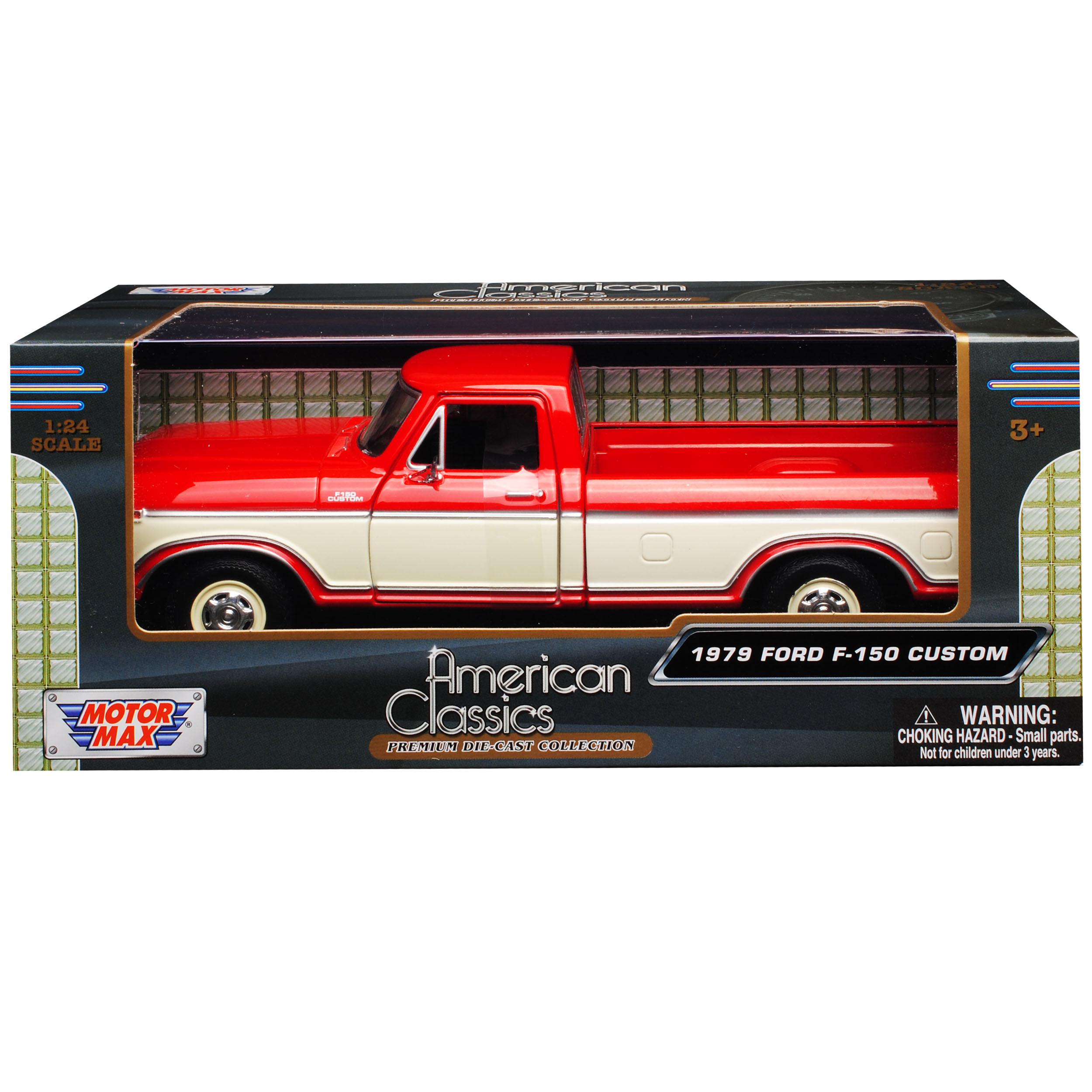 Ford f-150 Custom rojo con blanco pick-up 6 Generation 1973-1980 1//24 Motormax...