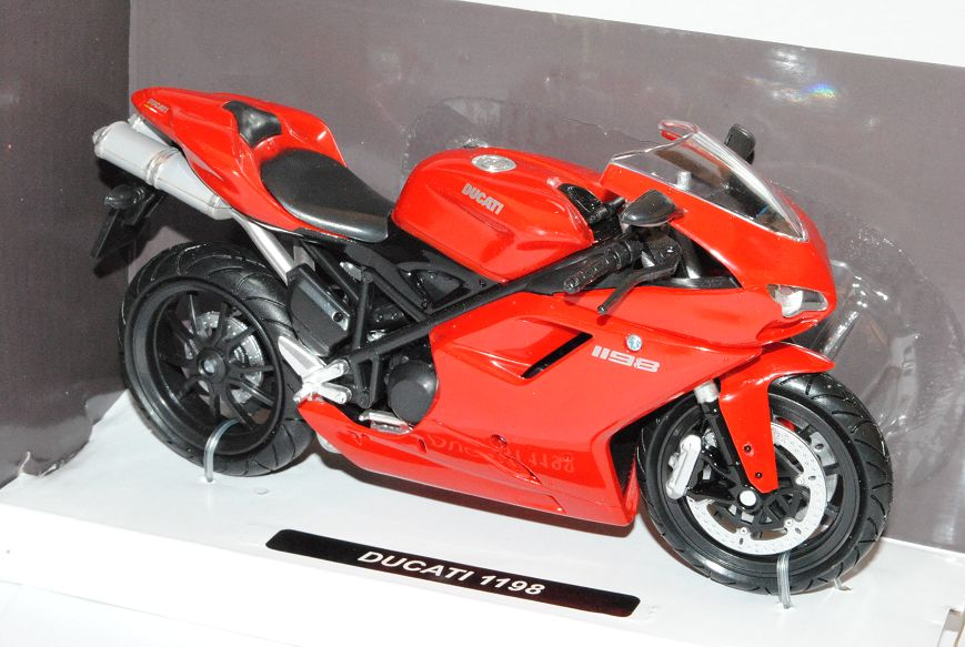 Ducati 1198 Rot Ab 2008 1//12 New Ray Modell Motorrad mit oder ohne individiuel..