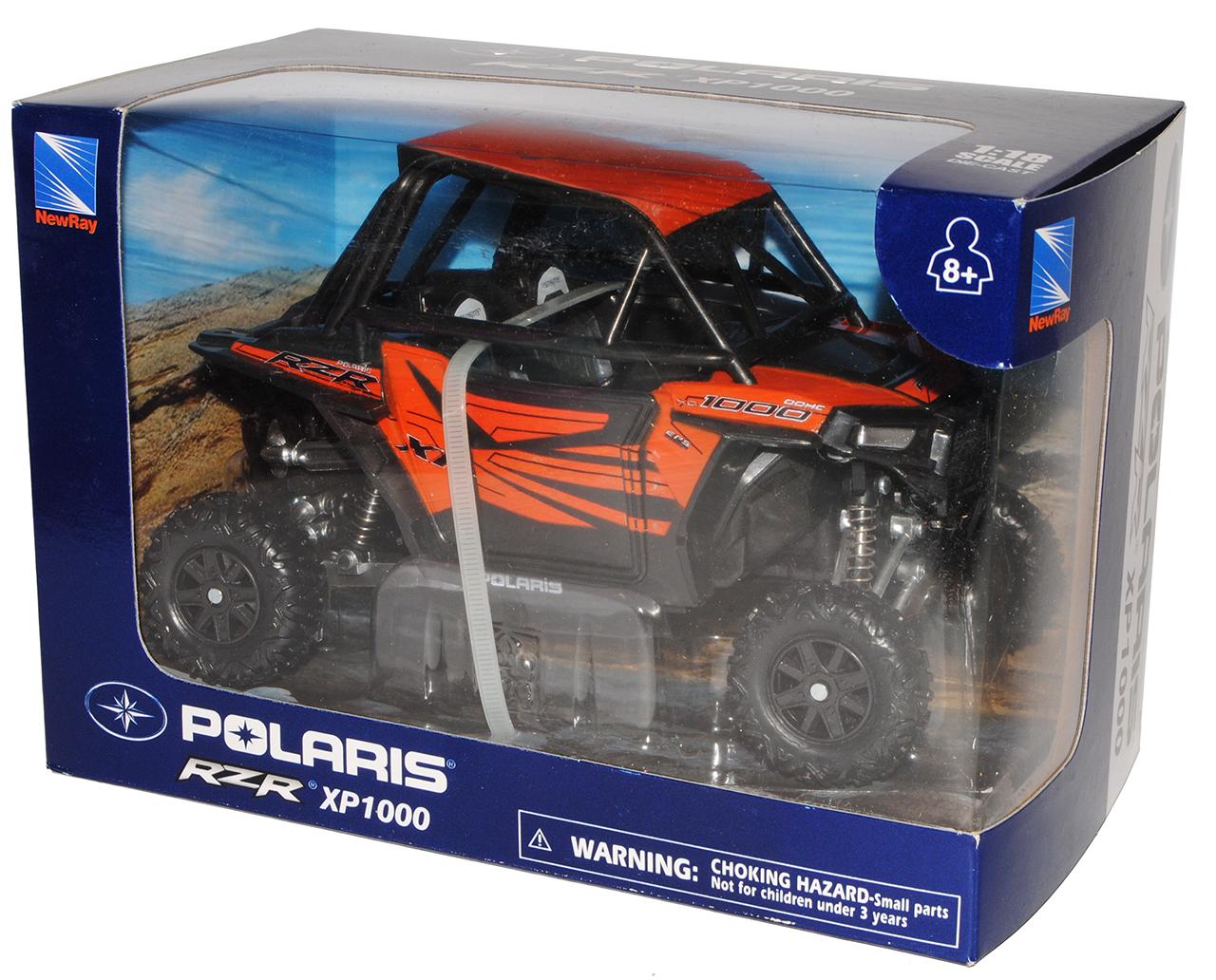 Locura de Polaris de RZR XP1000 EPS ATV naranja 1//18 nueva ray modelo moto con Oda...